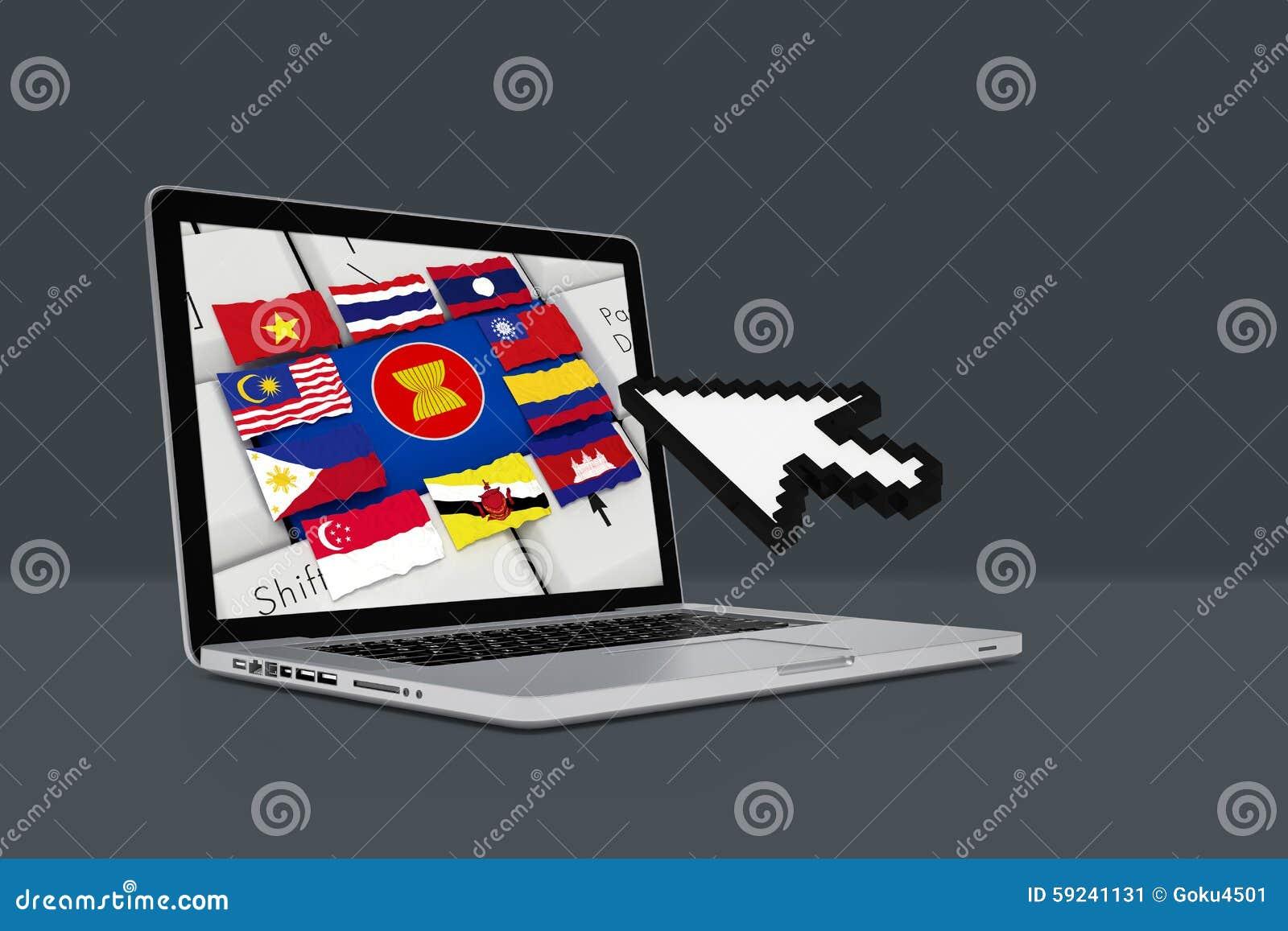 Comunidad económica de la ANSA, AEC con el ordenador portátil