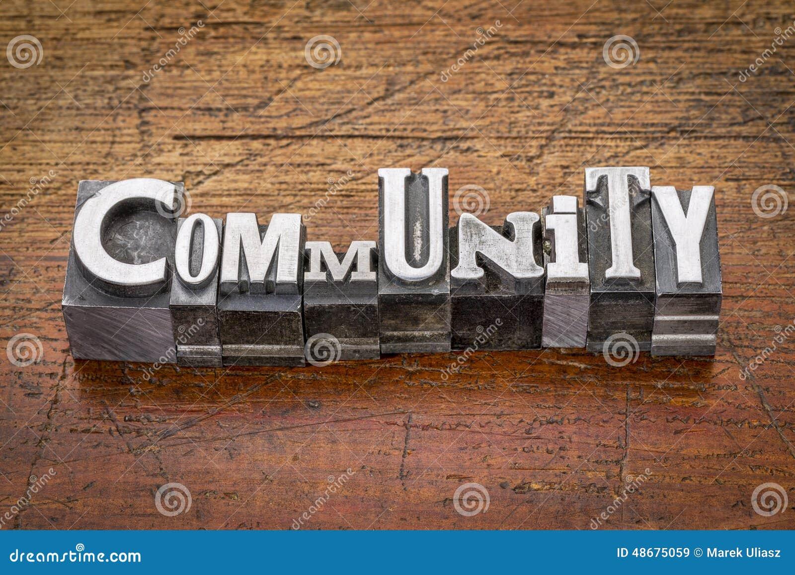 Comunidad en tipo del metal