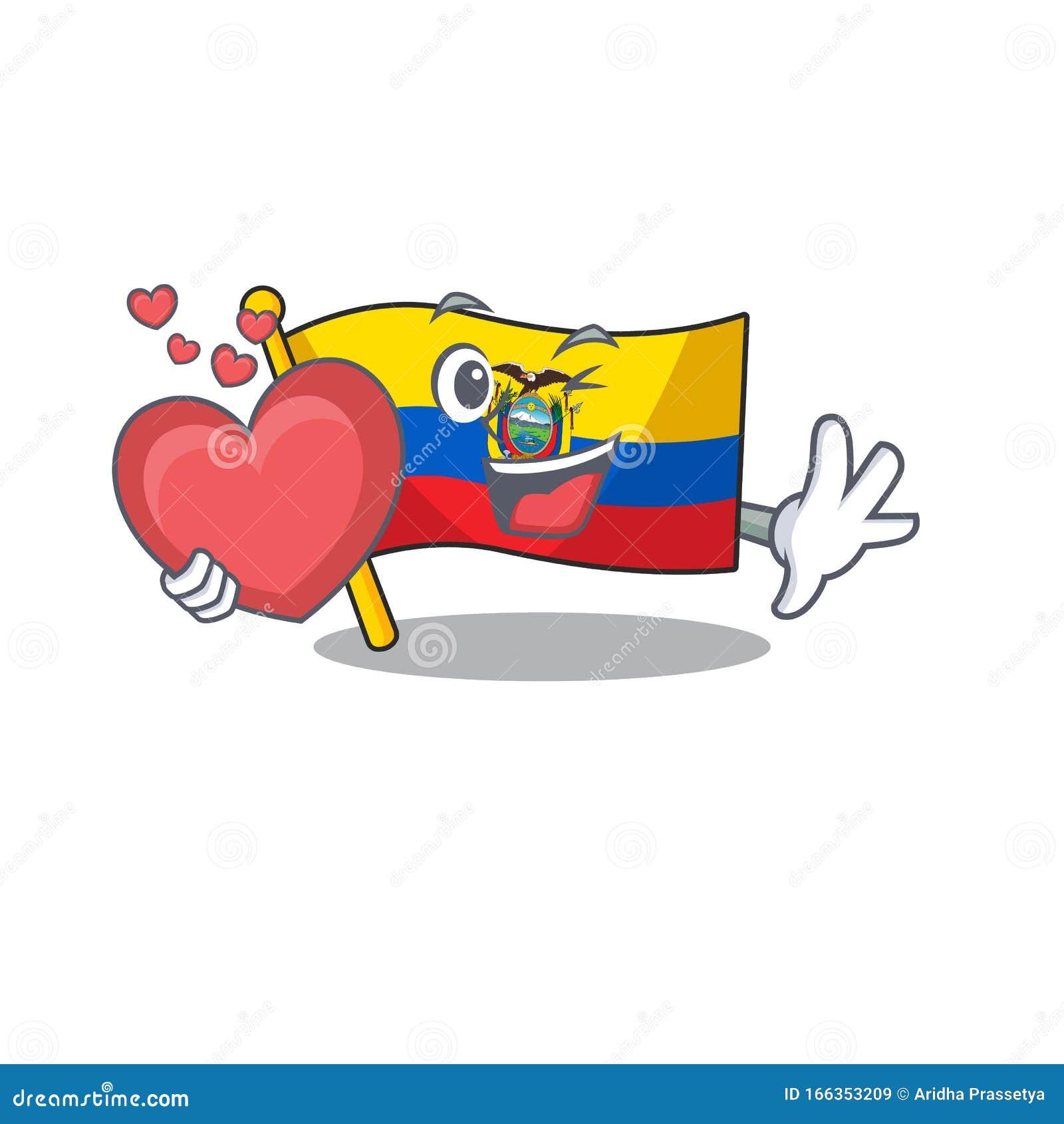 Con Bandera Caricaturista Ecuador Estilo Mascota Ilustración Del Vector Ilustración De Naturalice Cubo 166353209