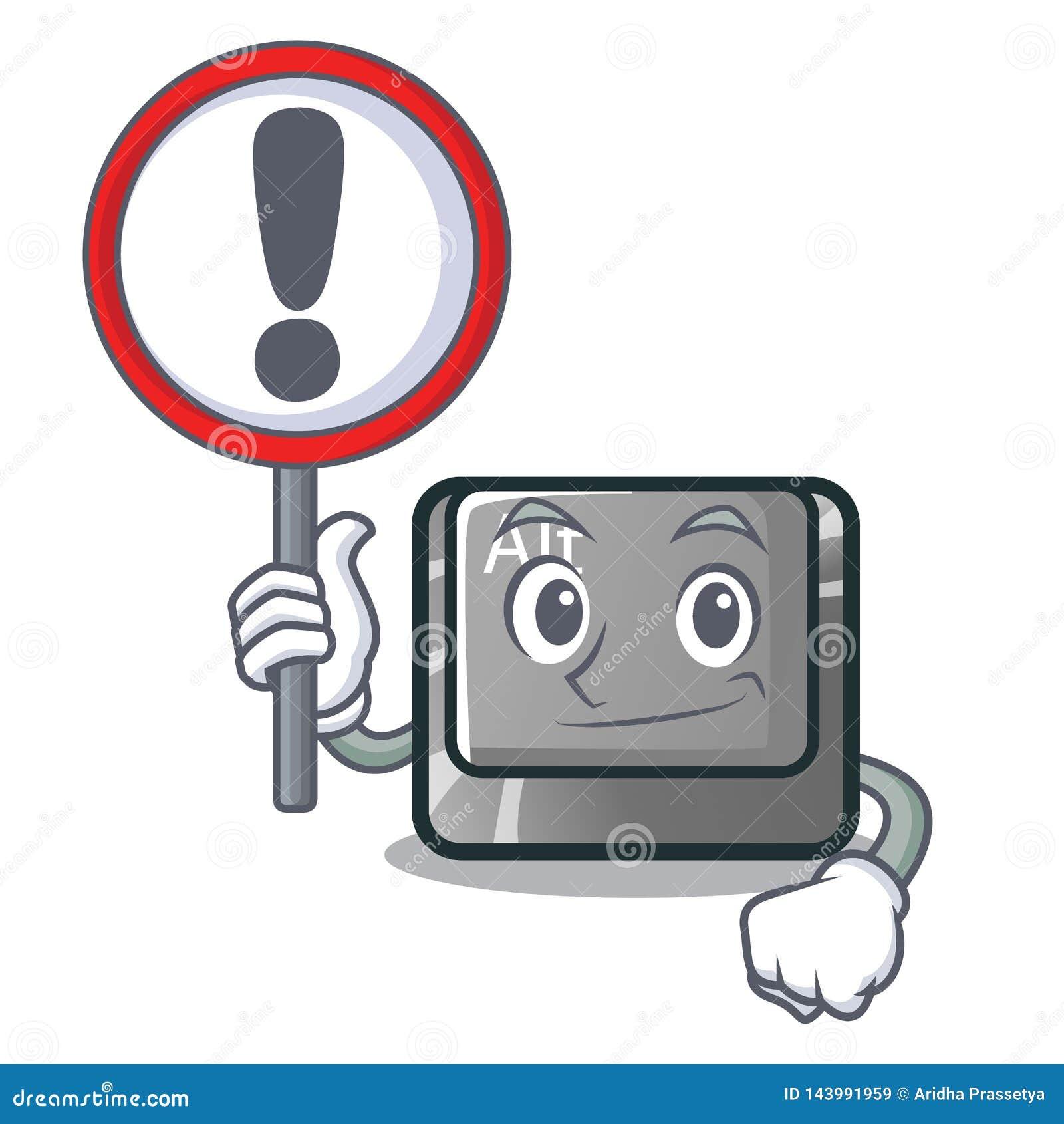 Con il bottone del segno alt nella forma del fumetto