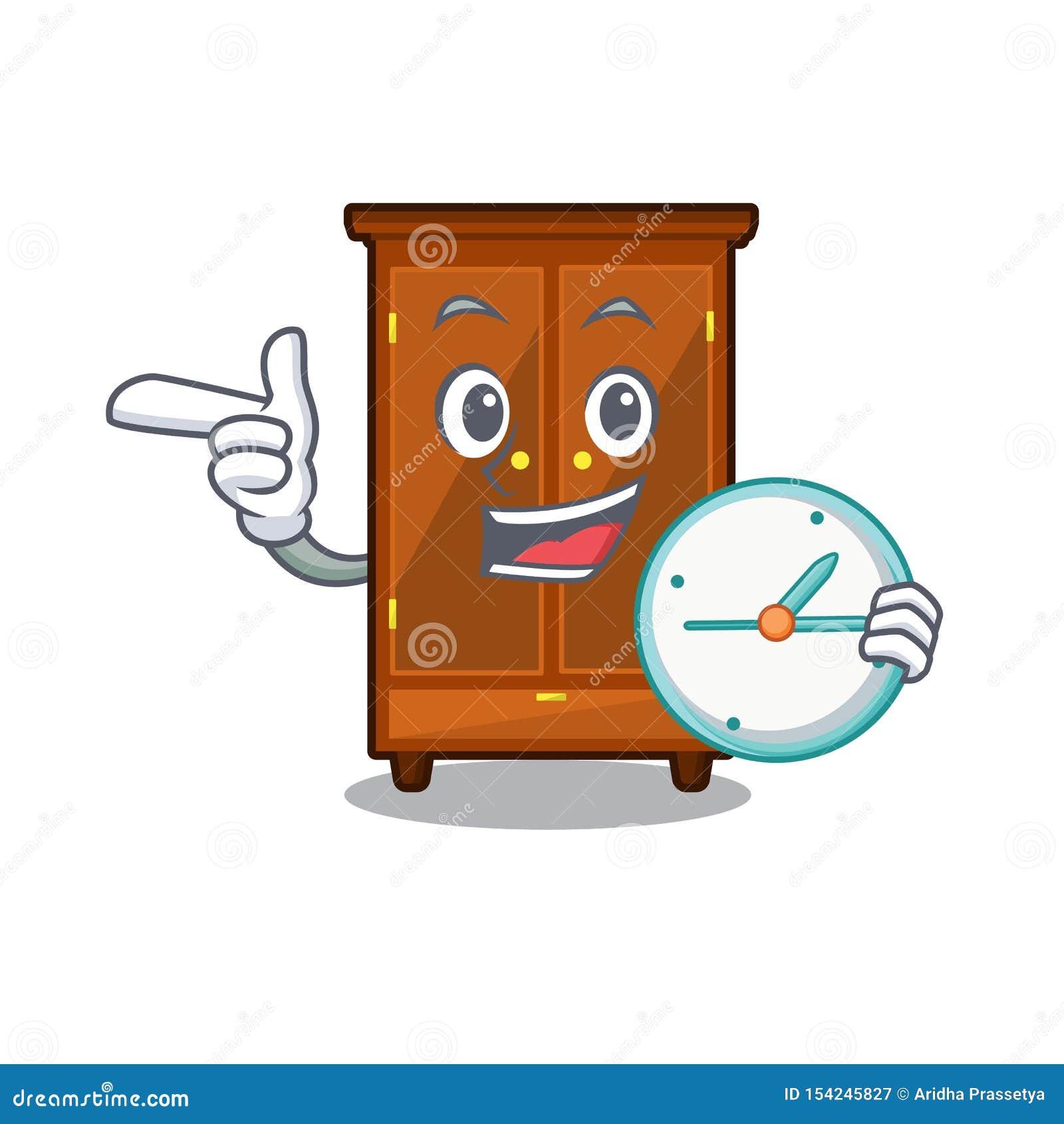 Con il guardaroba dell orologio nella forma di carattere di a