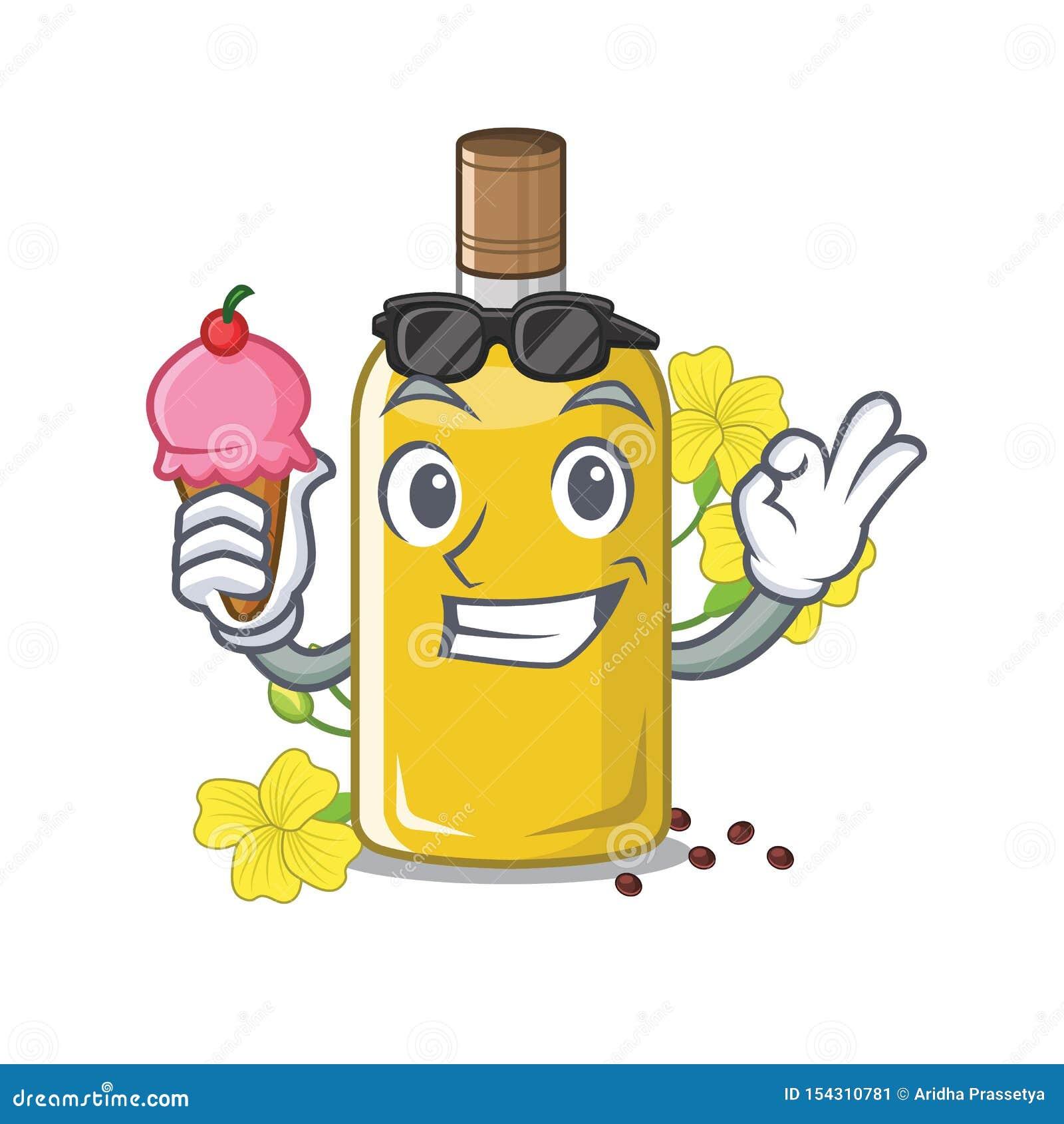 Con l olio del canola del gelato nella forma della mascotte