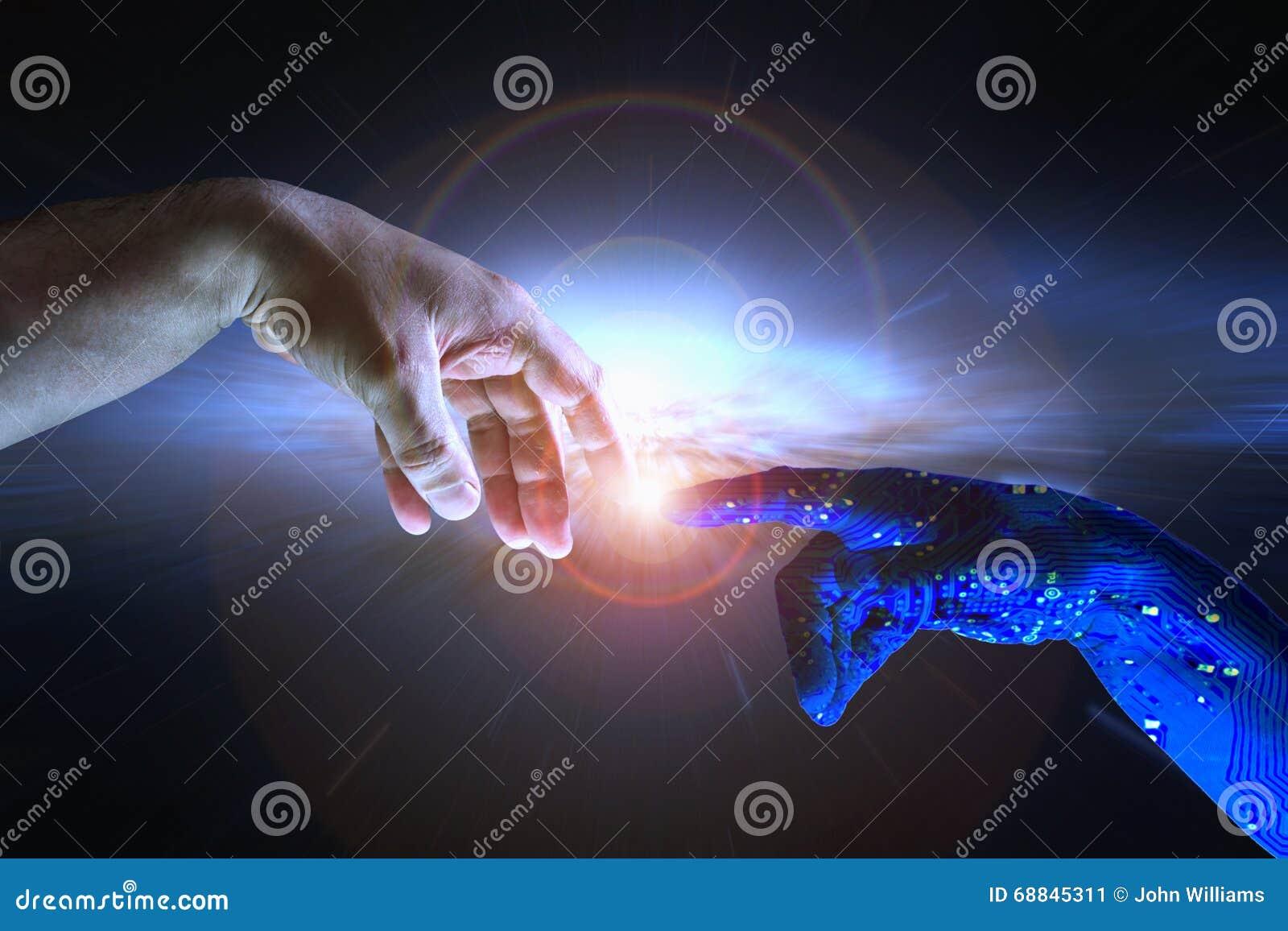 Conceito AI da inteligência artificial e humanidade
