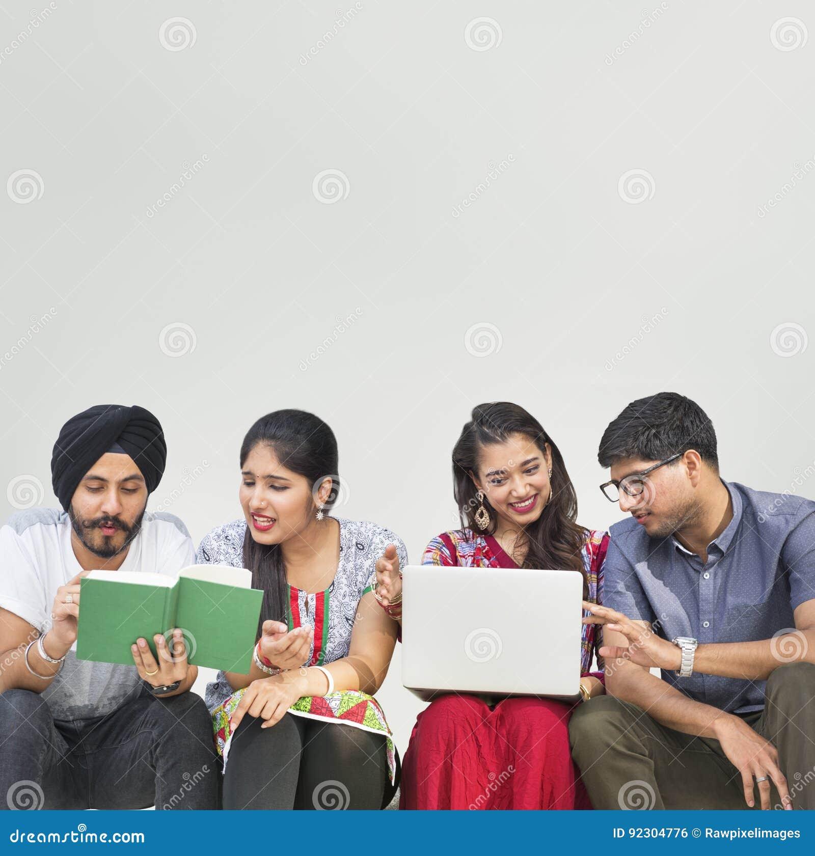 Conceito asiático do Oriente Médio da comunidade da afiliação étnica indiana