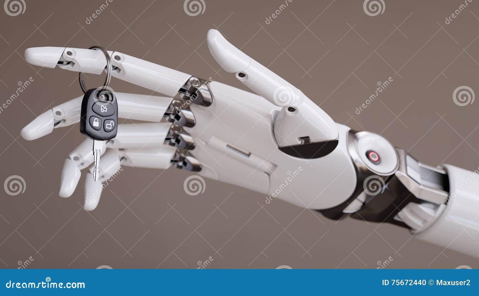 Conceito automatizado inteligente da ilustração de Assist System 3d do motorista