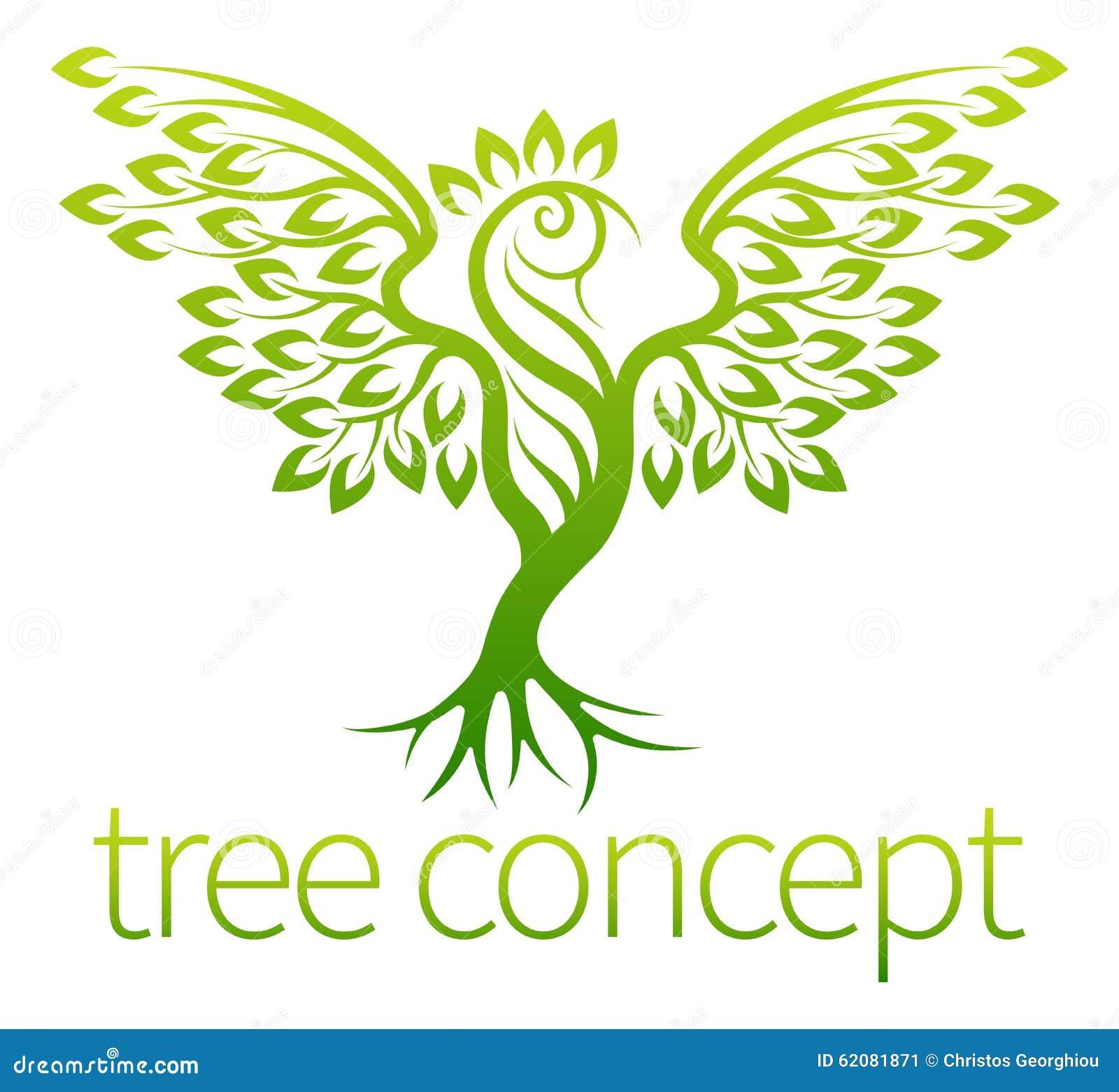 Conceito da árvore do pássaro