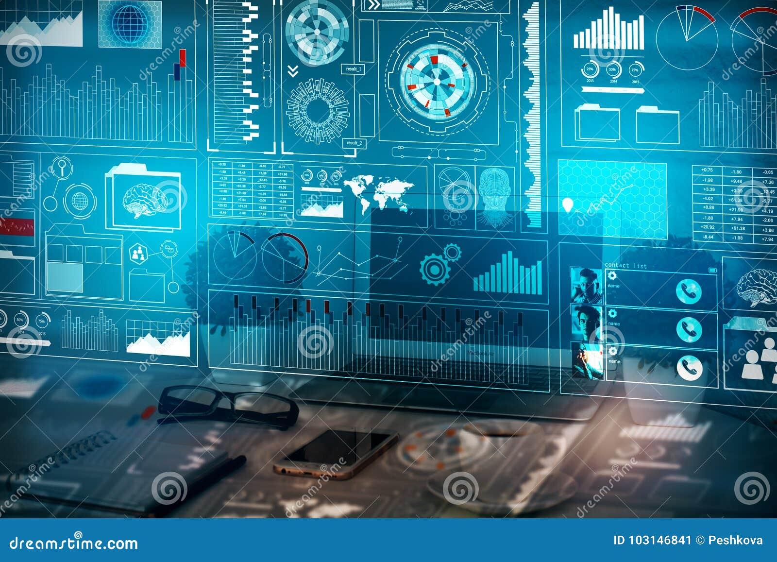 Conceito da analítica, da finança e da inovação