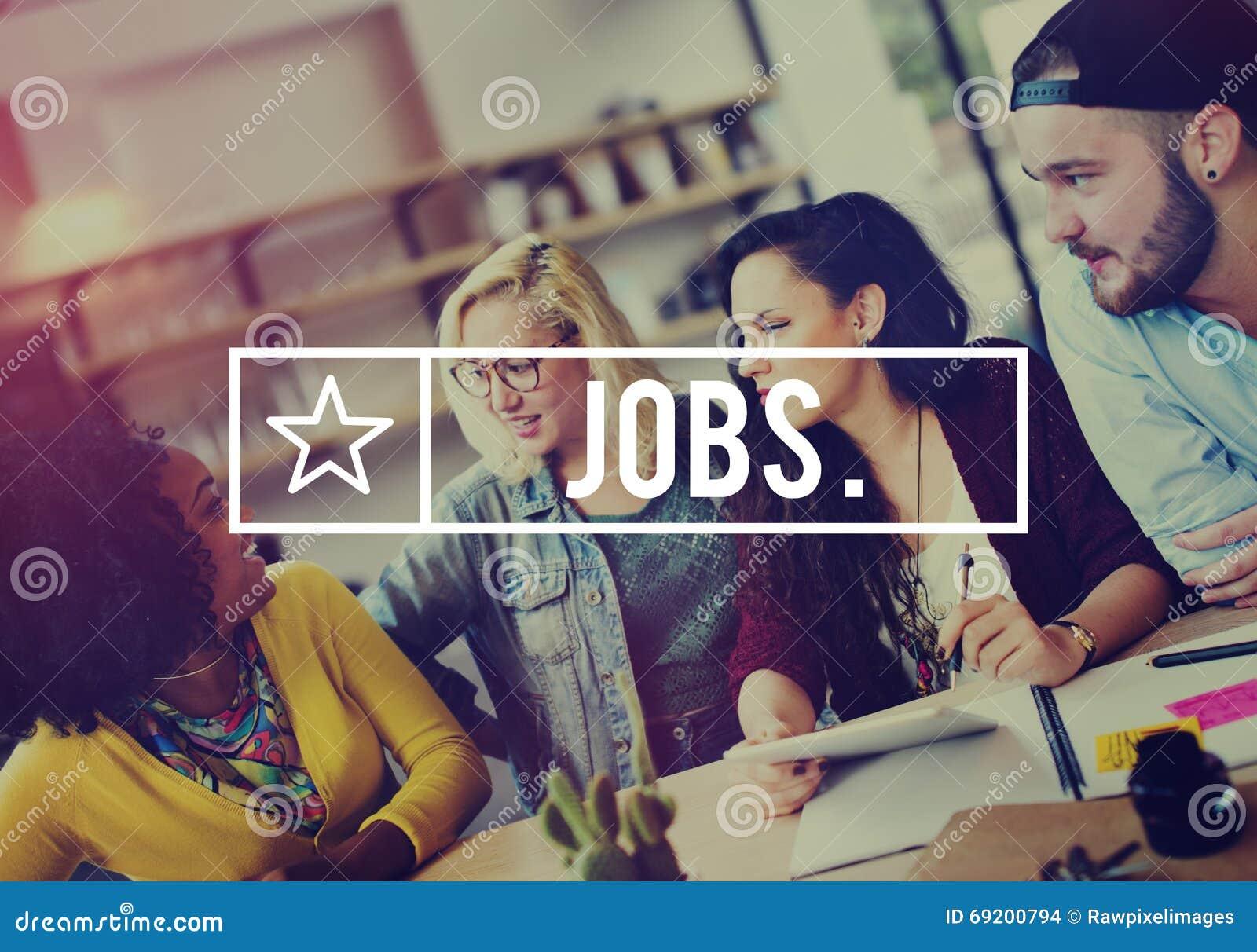 Conceito da aplicação da ocupação da carreira do emprego dos trabalhos