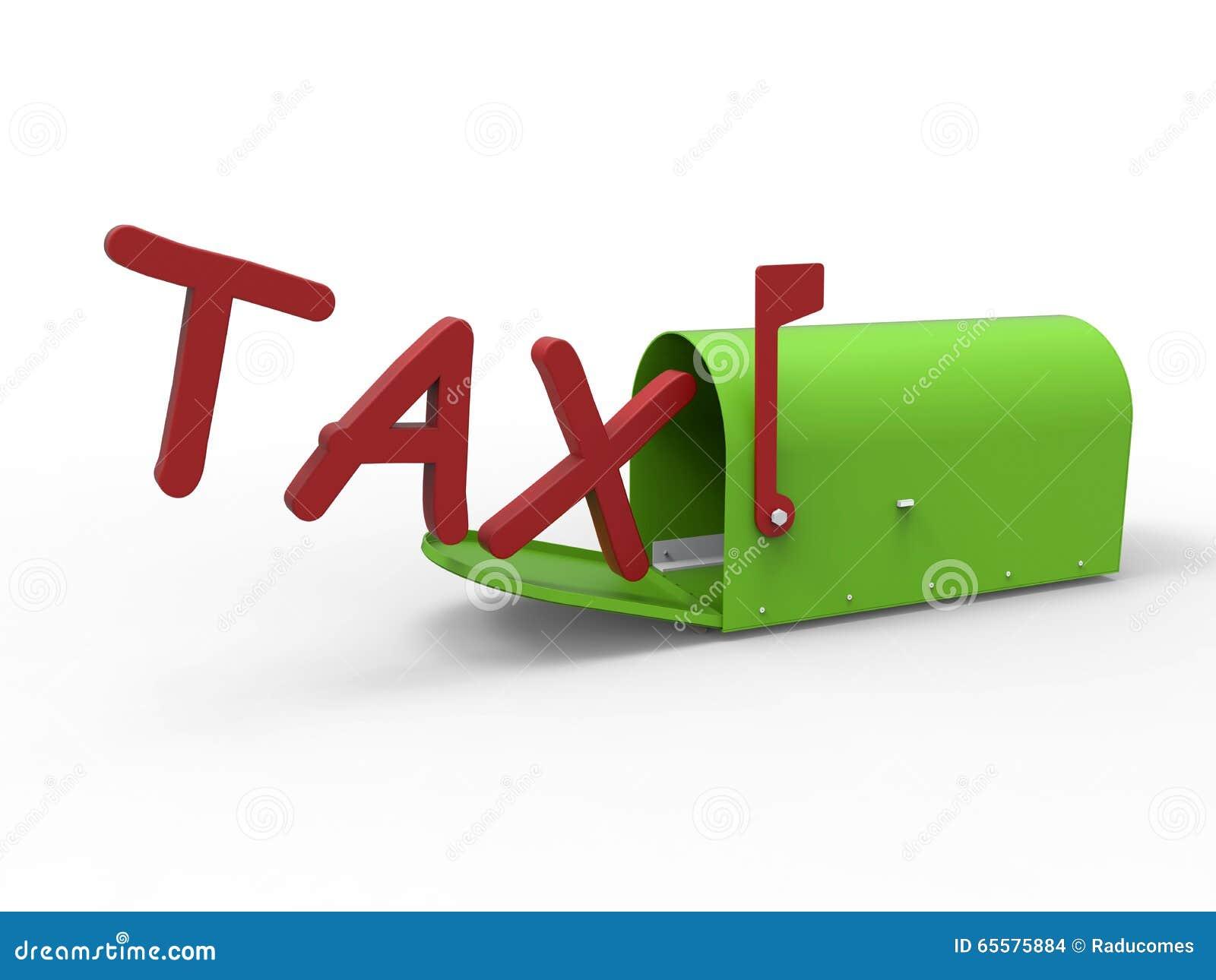 Conceito da caixa postal do imposto