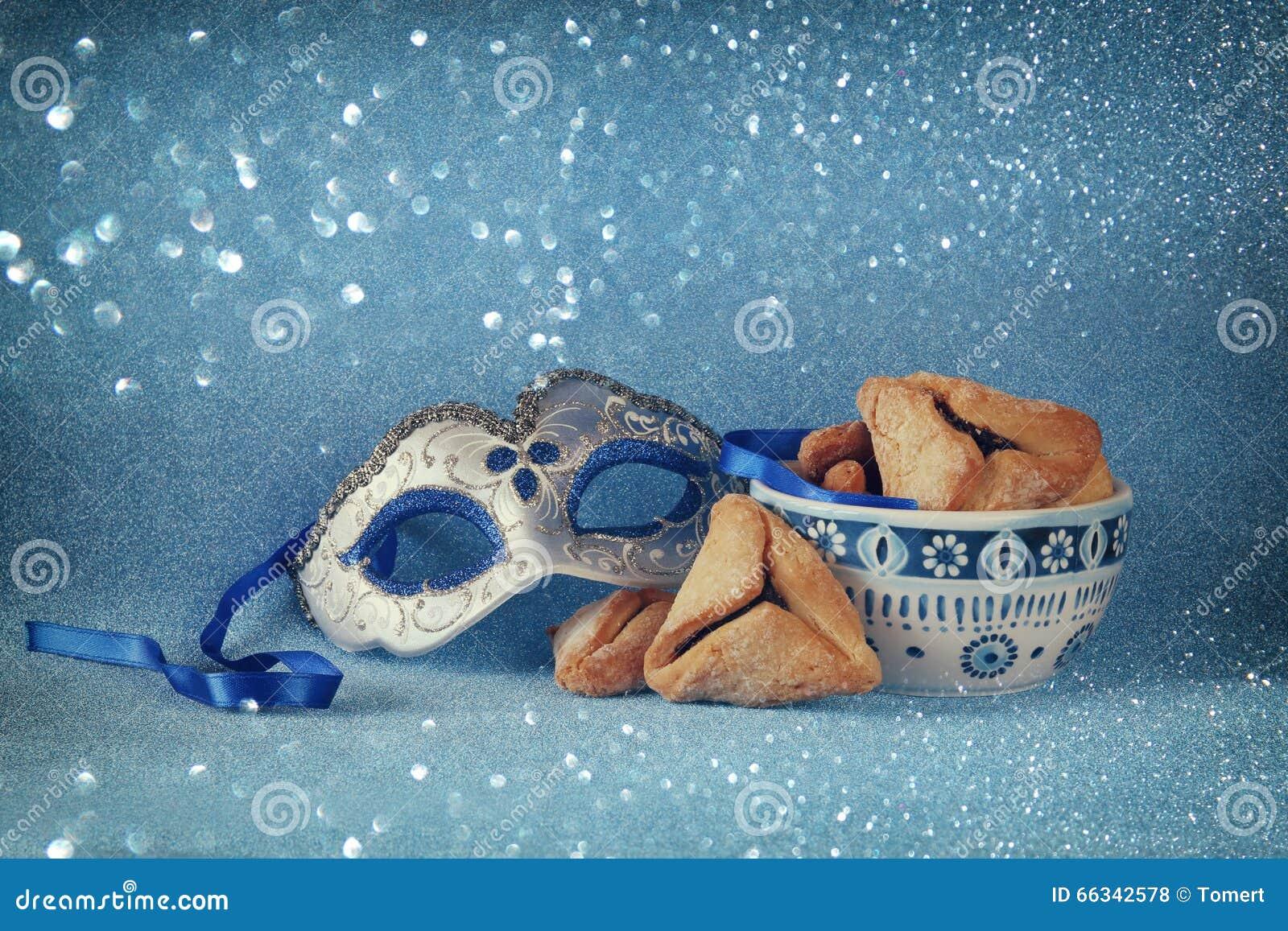 Conceito da celebração de Purim (feriado judaico do carnaval) Foco seletivo
