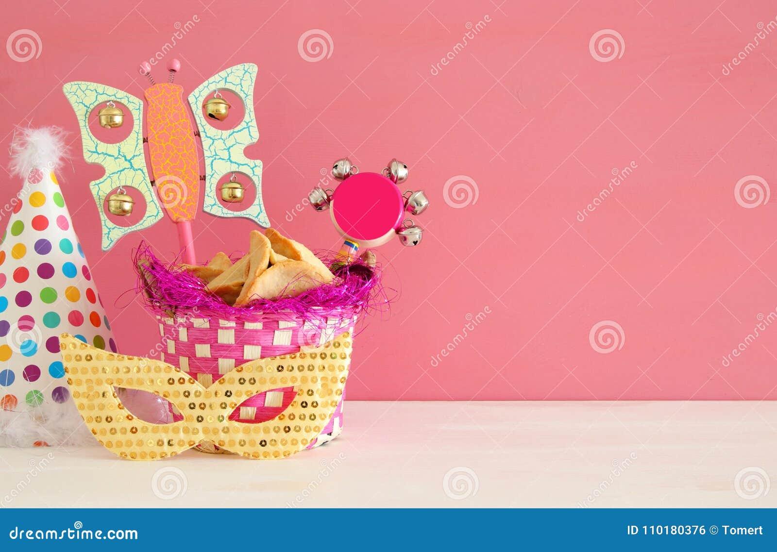 Conceito da celebração de Purim & x28; holiday& judaico x29 do carnaval;