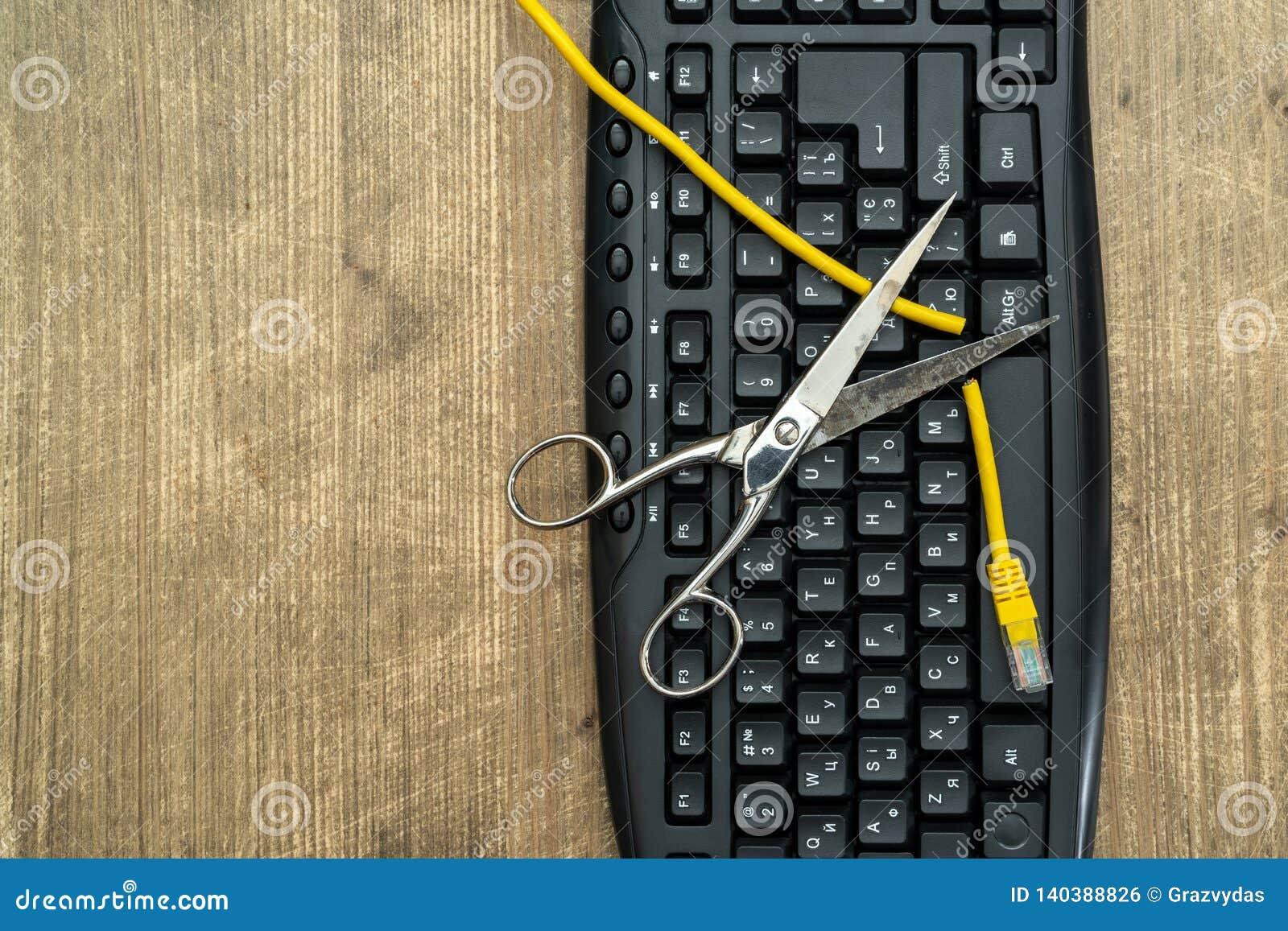 Conceito da censura e da interrupção do Internet