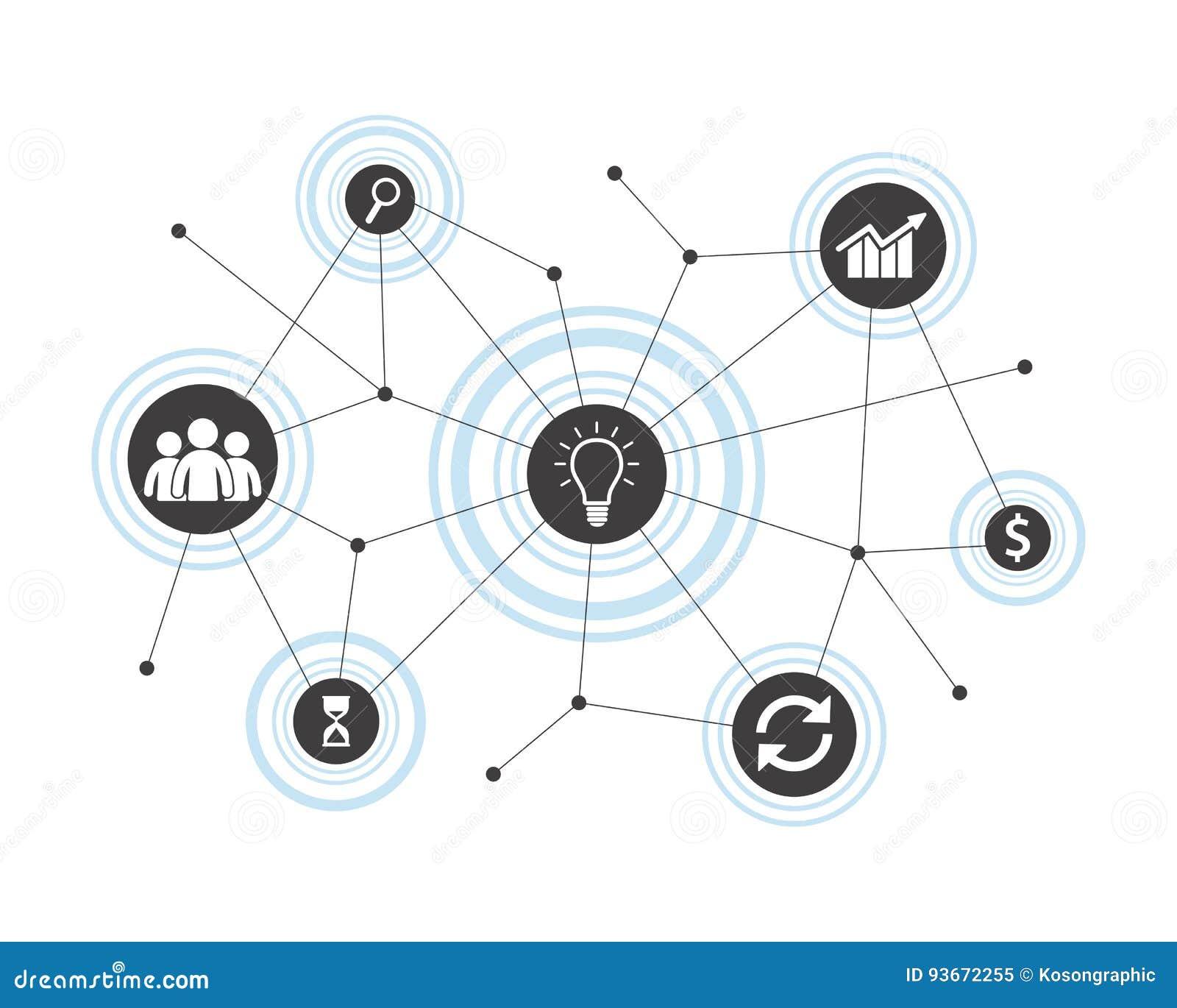 Conceito da conexão de negócio Ilustração do vetor