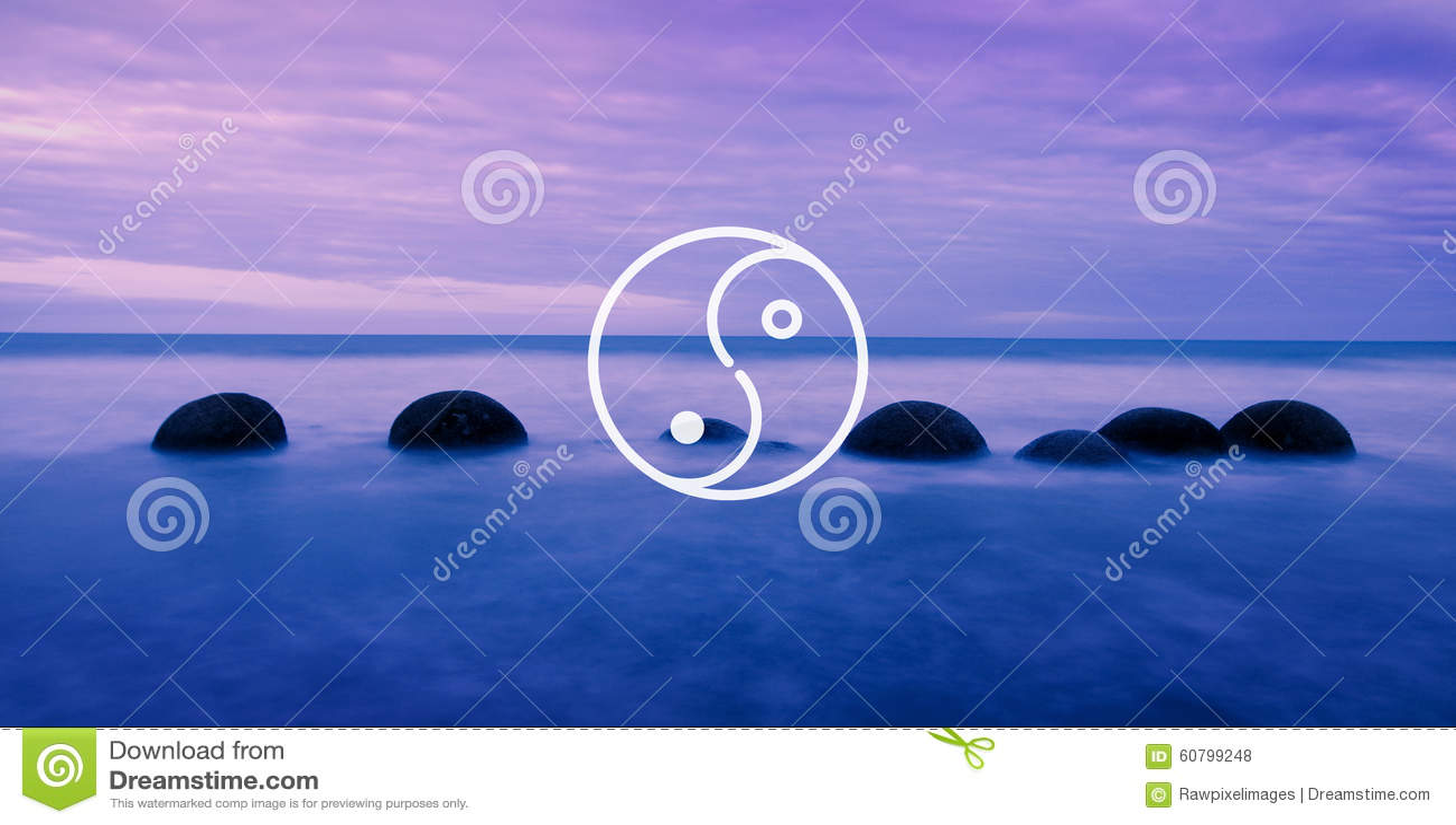 Conceito da cultura de Yin Yang Balance Contrast Opposite Religion