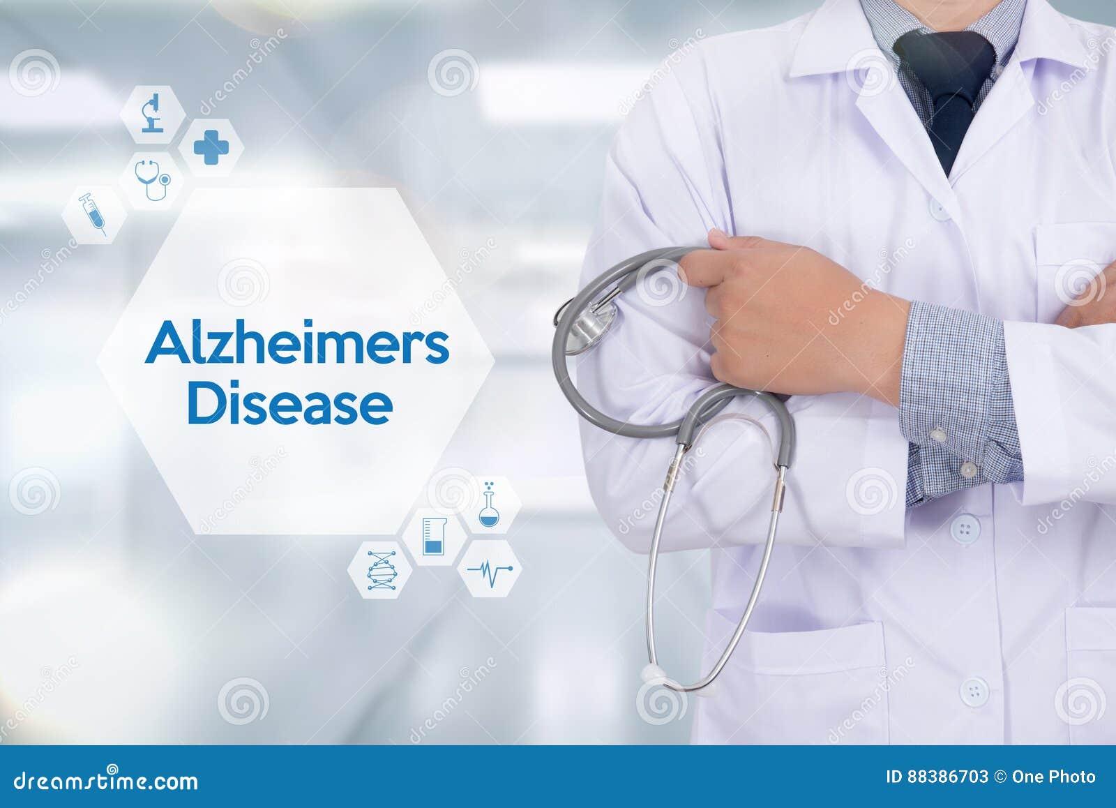 Conceito da doença de Alzheimers, doenças degenerativos Parkin do cérebro