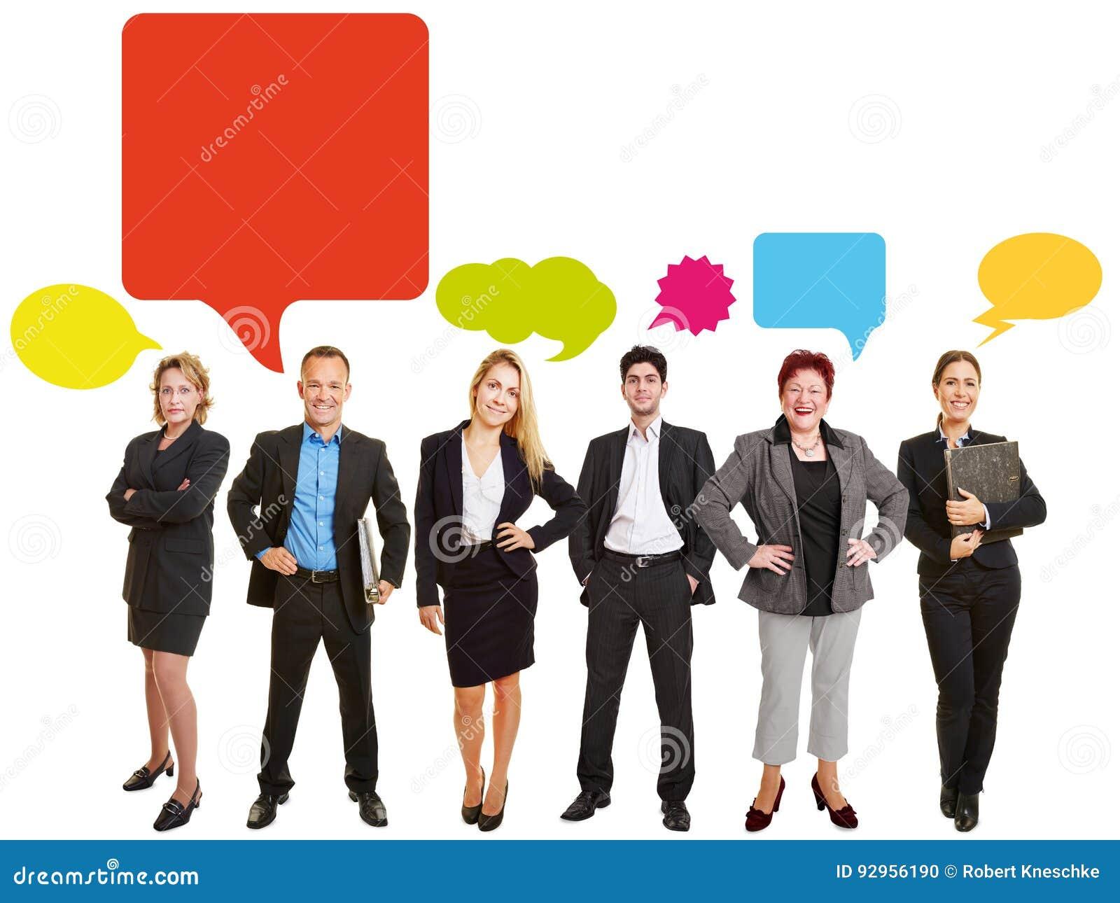 Conceito da equipe do negócio de uma comunicação