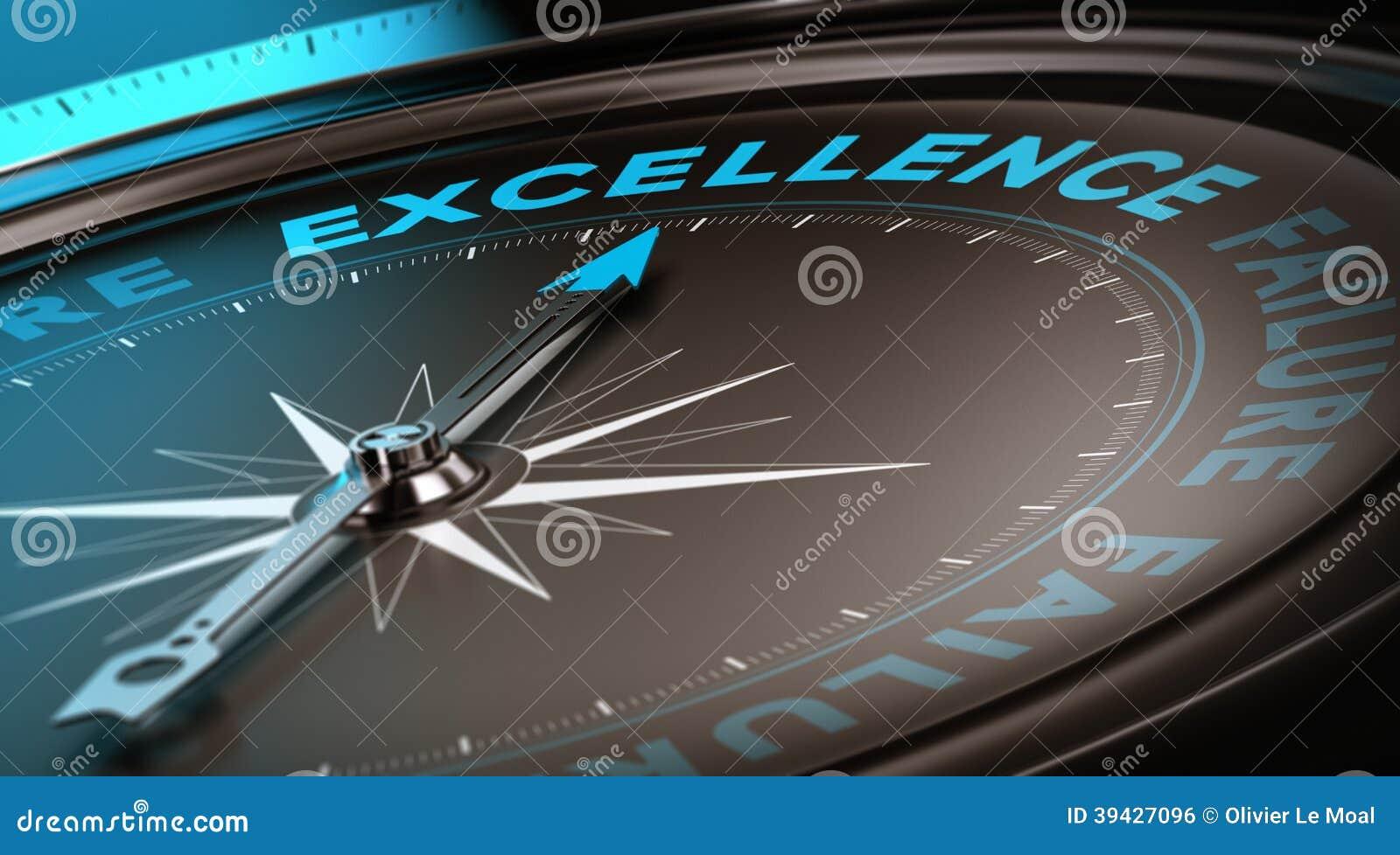 Conceito da excelência, serviço de qualidade
