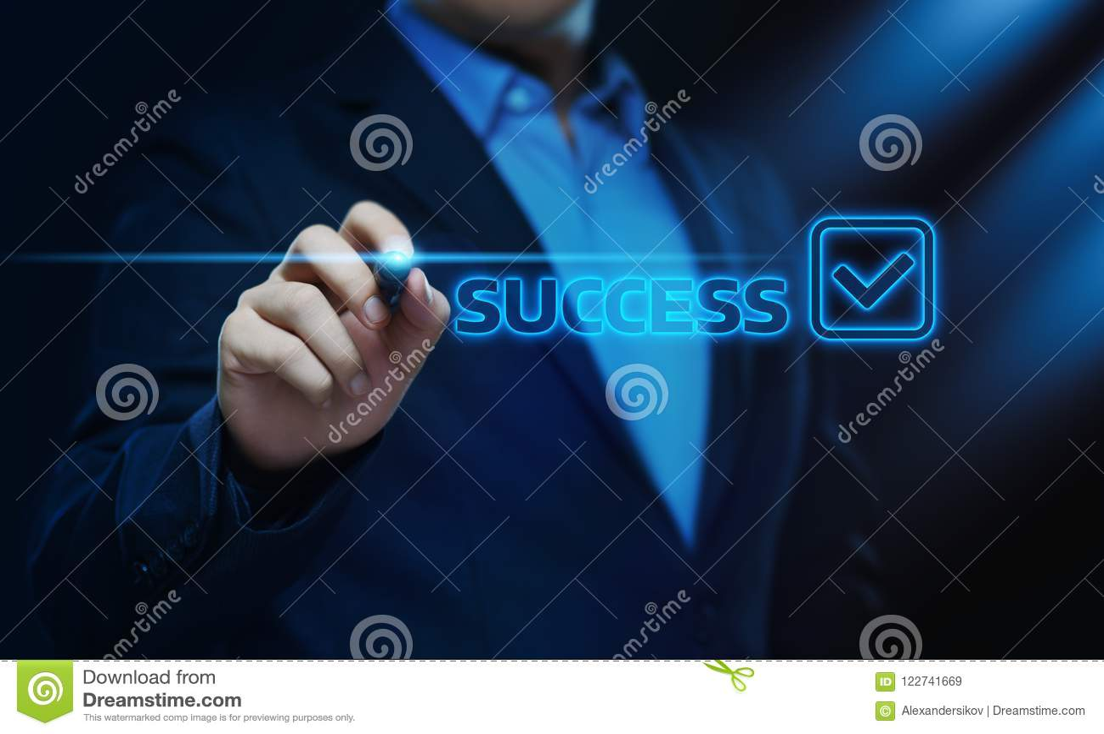 Conceito da finança do negócio do resultado positivo da realização do sucesso