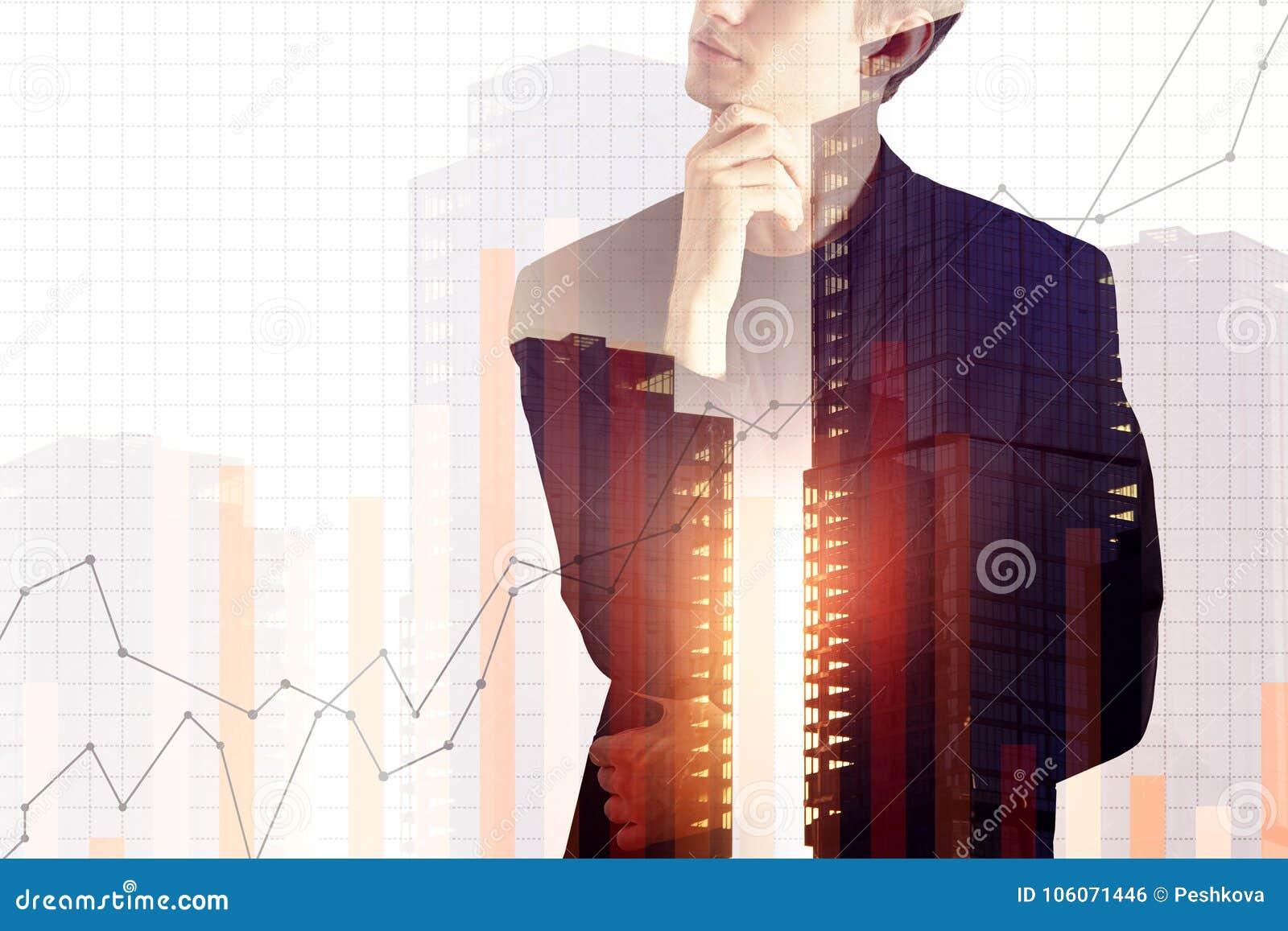 Conceito da finança e do crescimento
