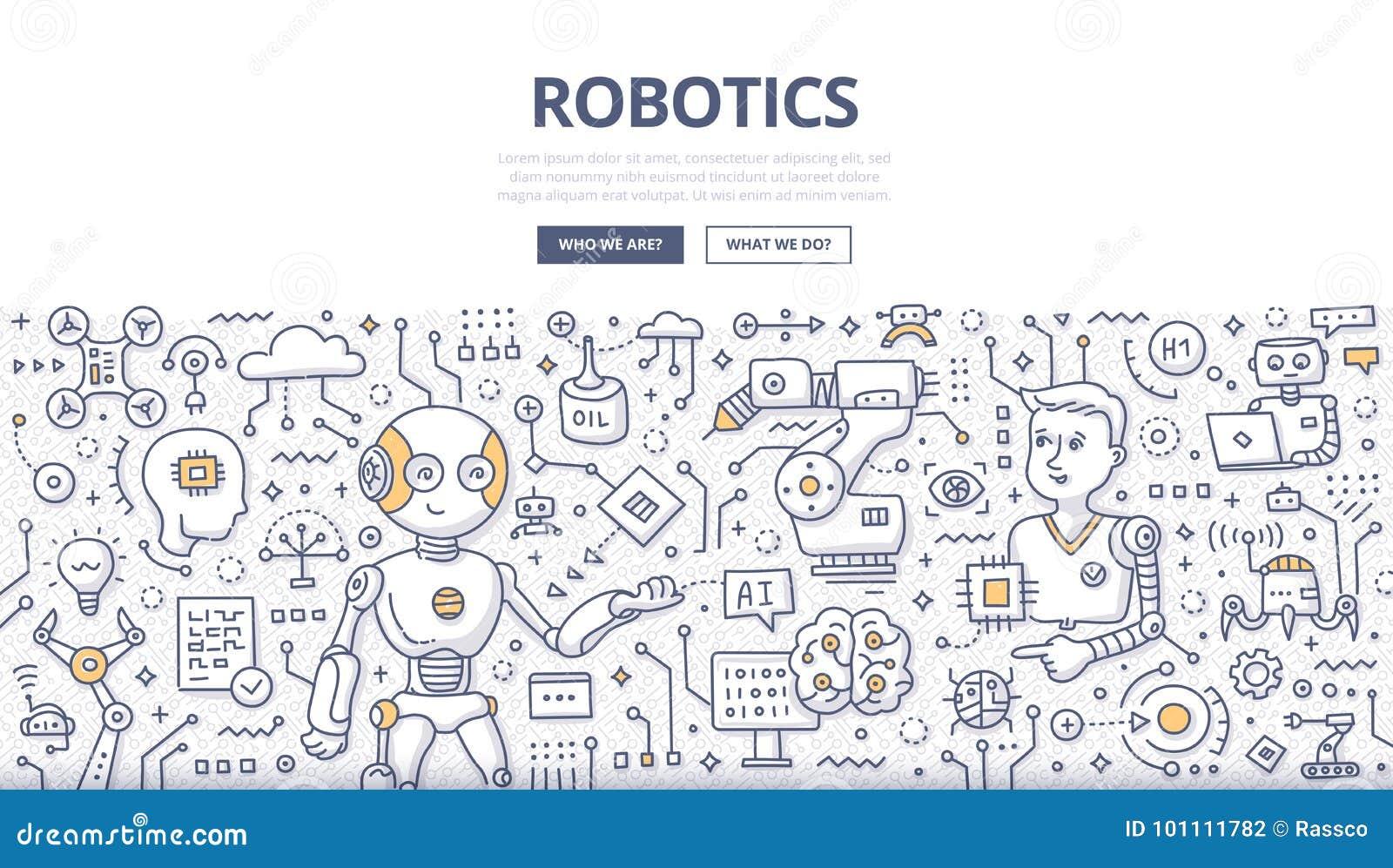 Conceito da garatuja da robótica