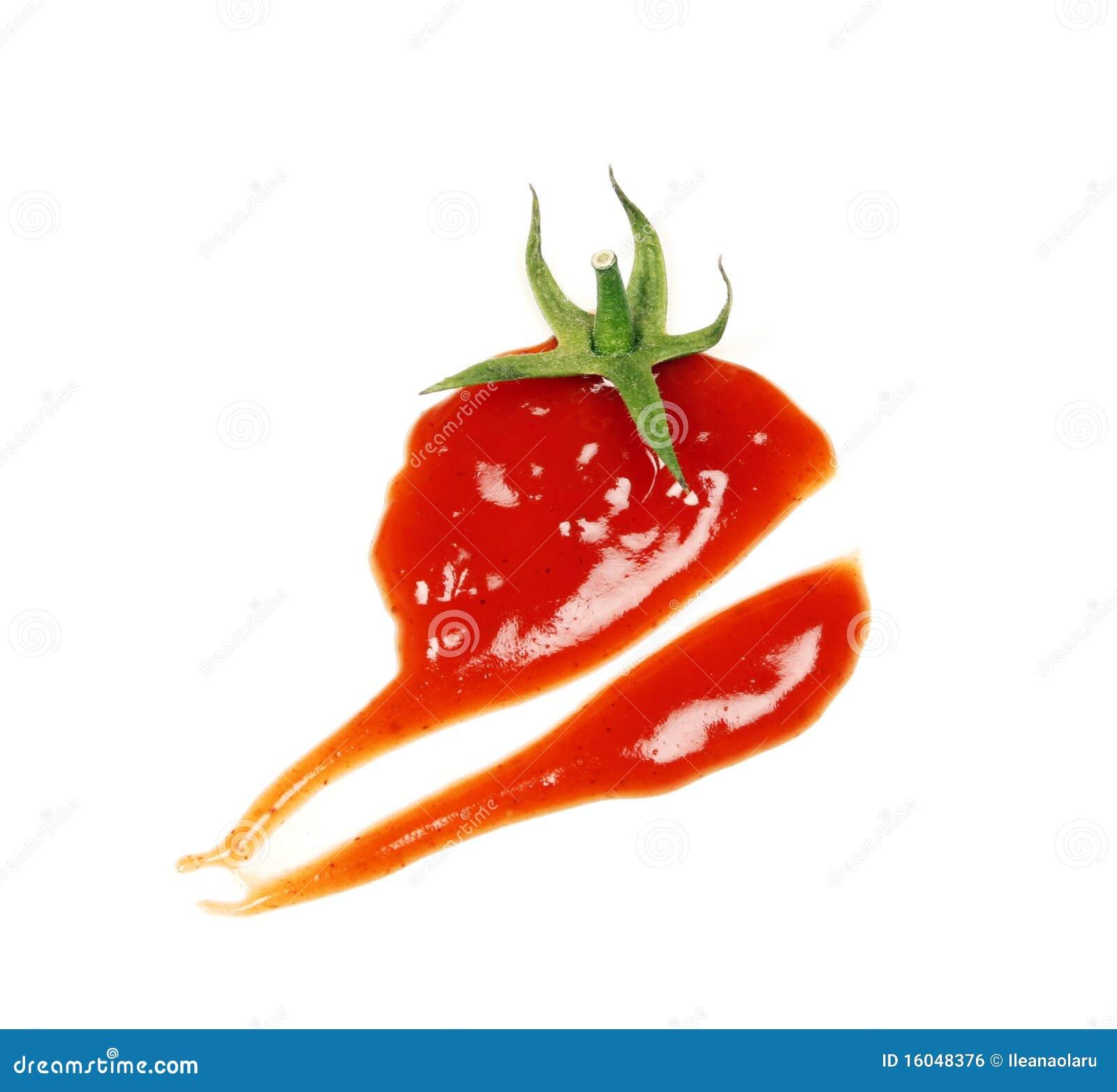Conceito da gota da ketchup