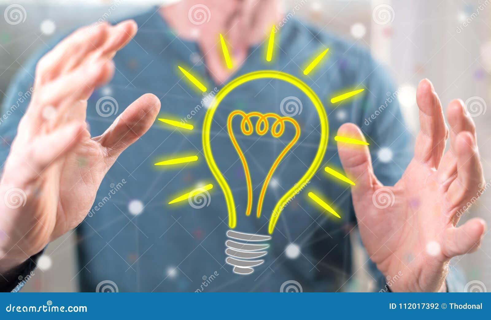 Conceito da ideia brilhante