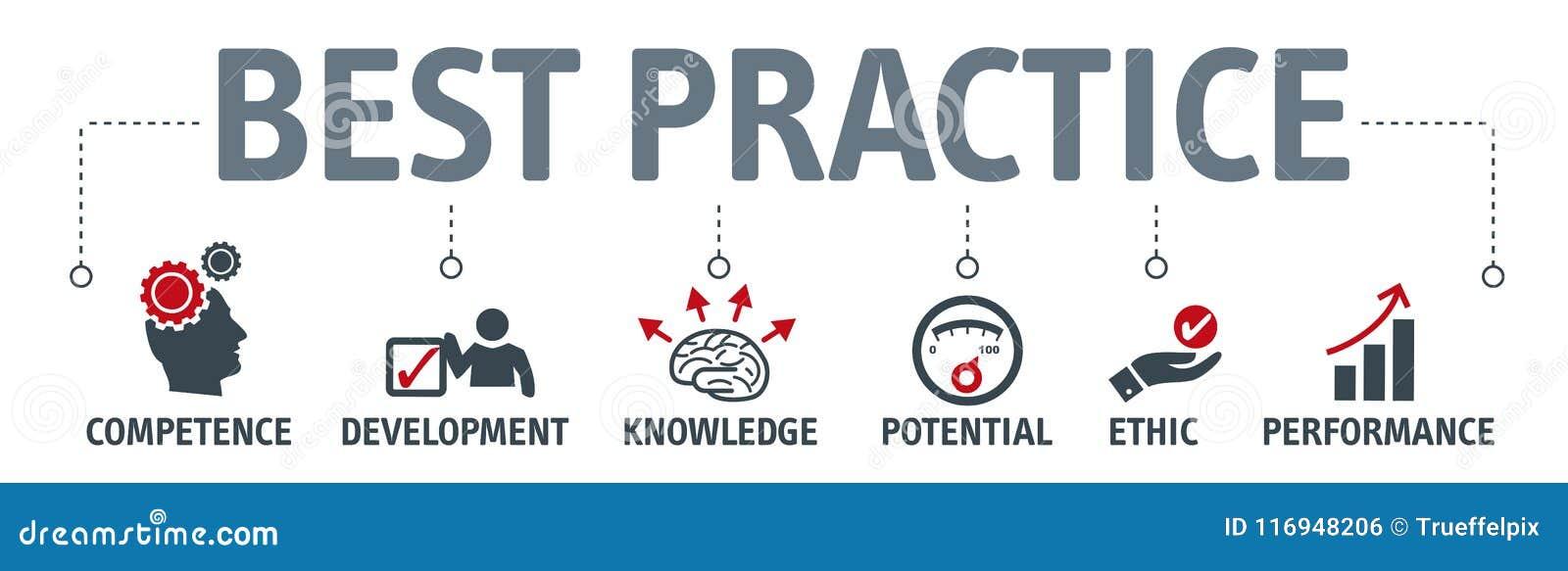 Conceito da ilustração do vetor da melhor prática