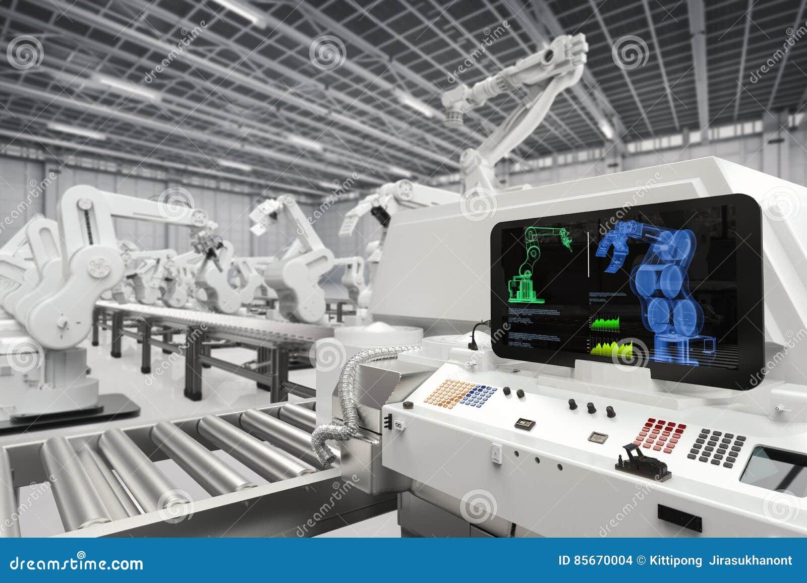 Conceito da indústria da automatização