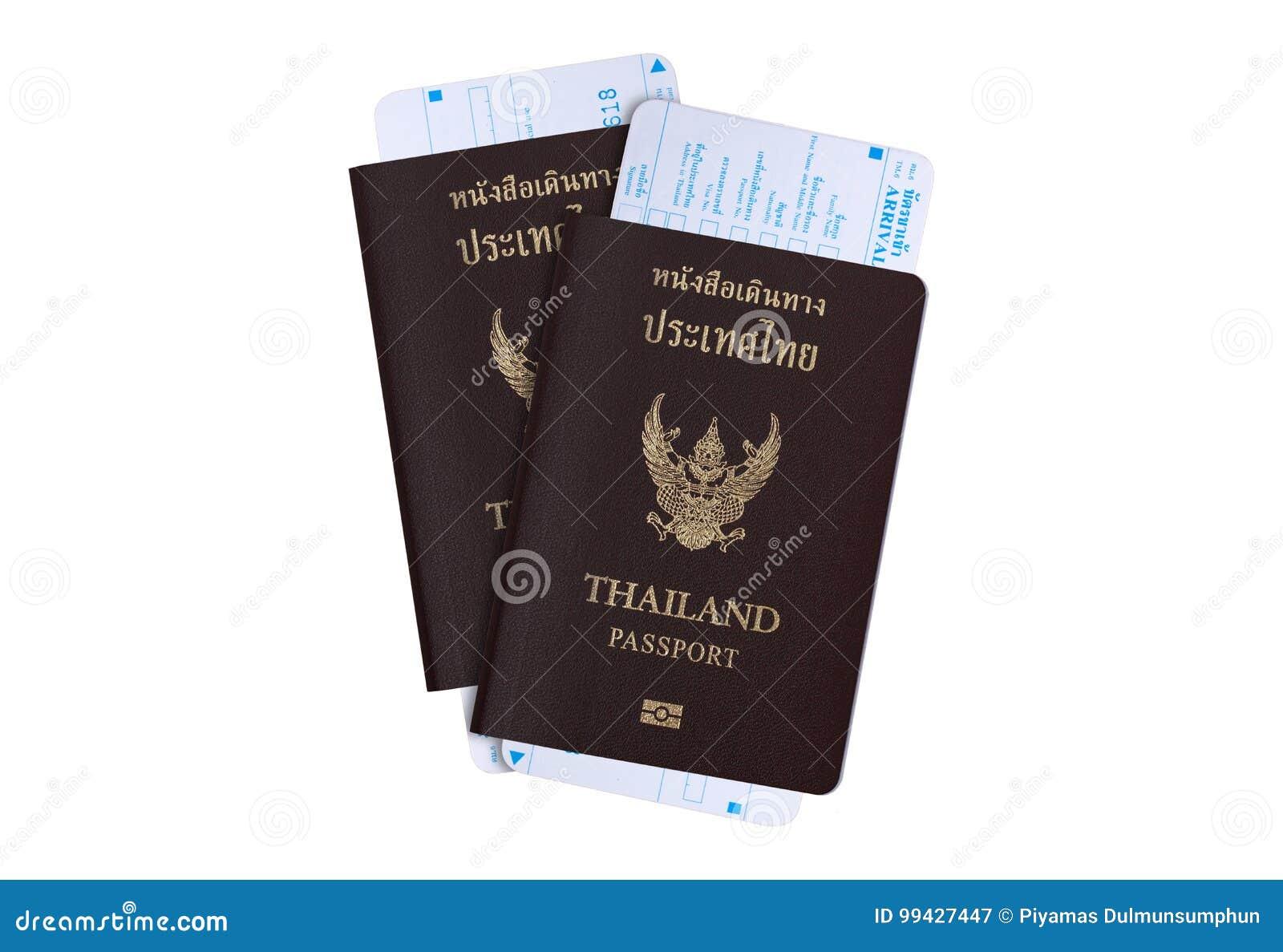 Conceito da indústria de viagens do visto de turista: Passaporte de Tailândia