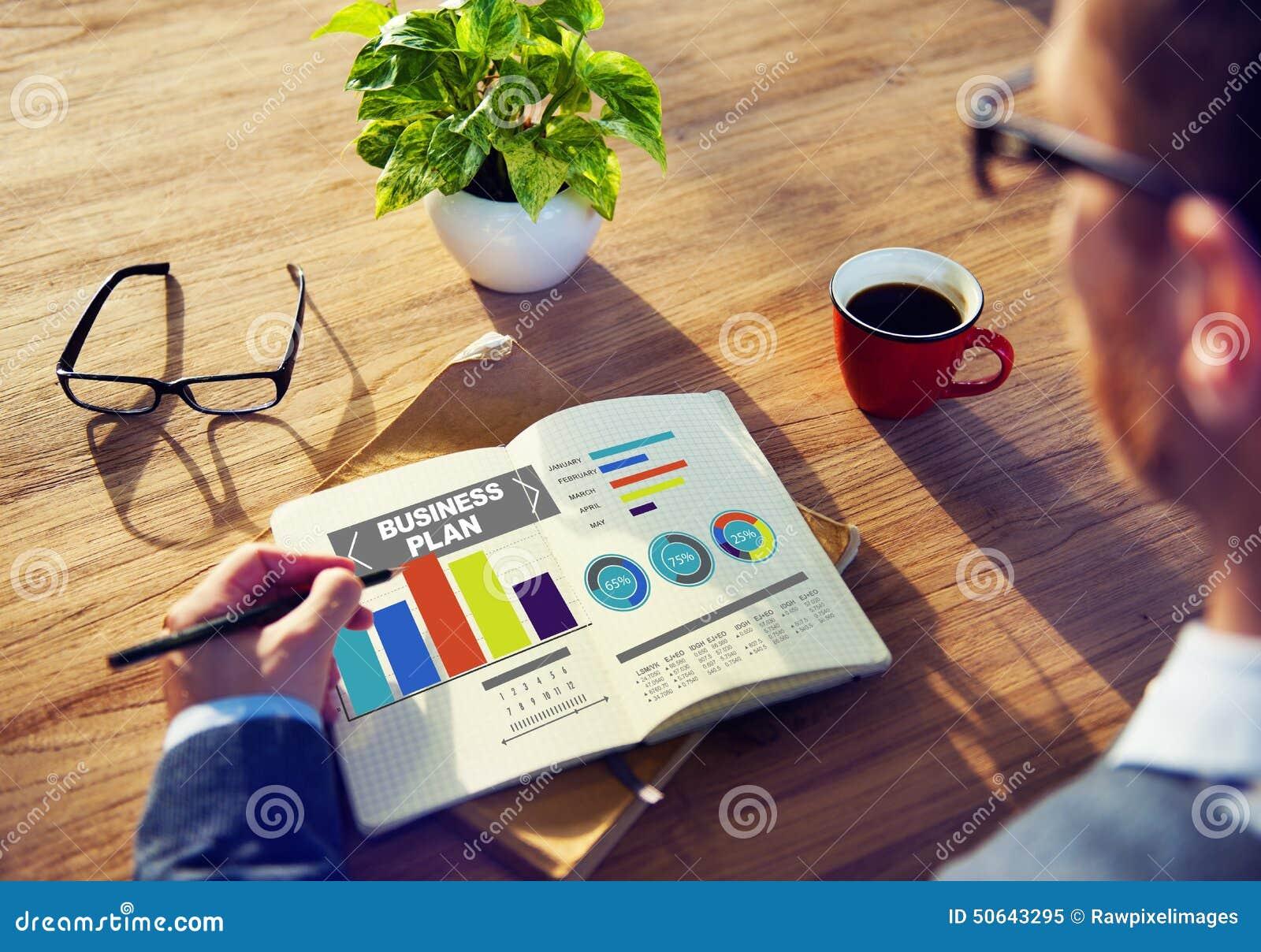 Conceito da informação da ideia da estratégia da sessão de reflexão do gráfico do plano de negócios