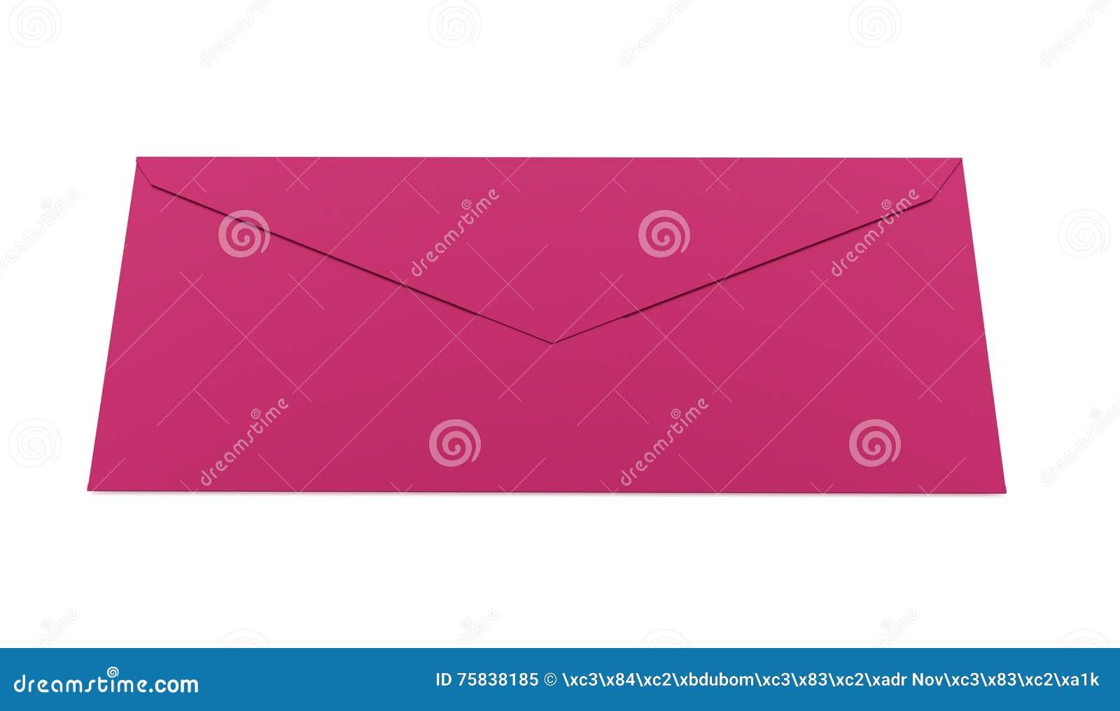 Conceito da letra do envelope rendido no branco