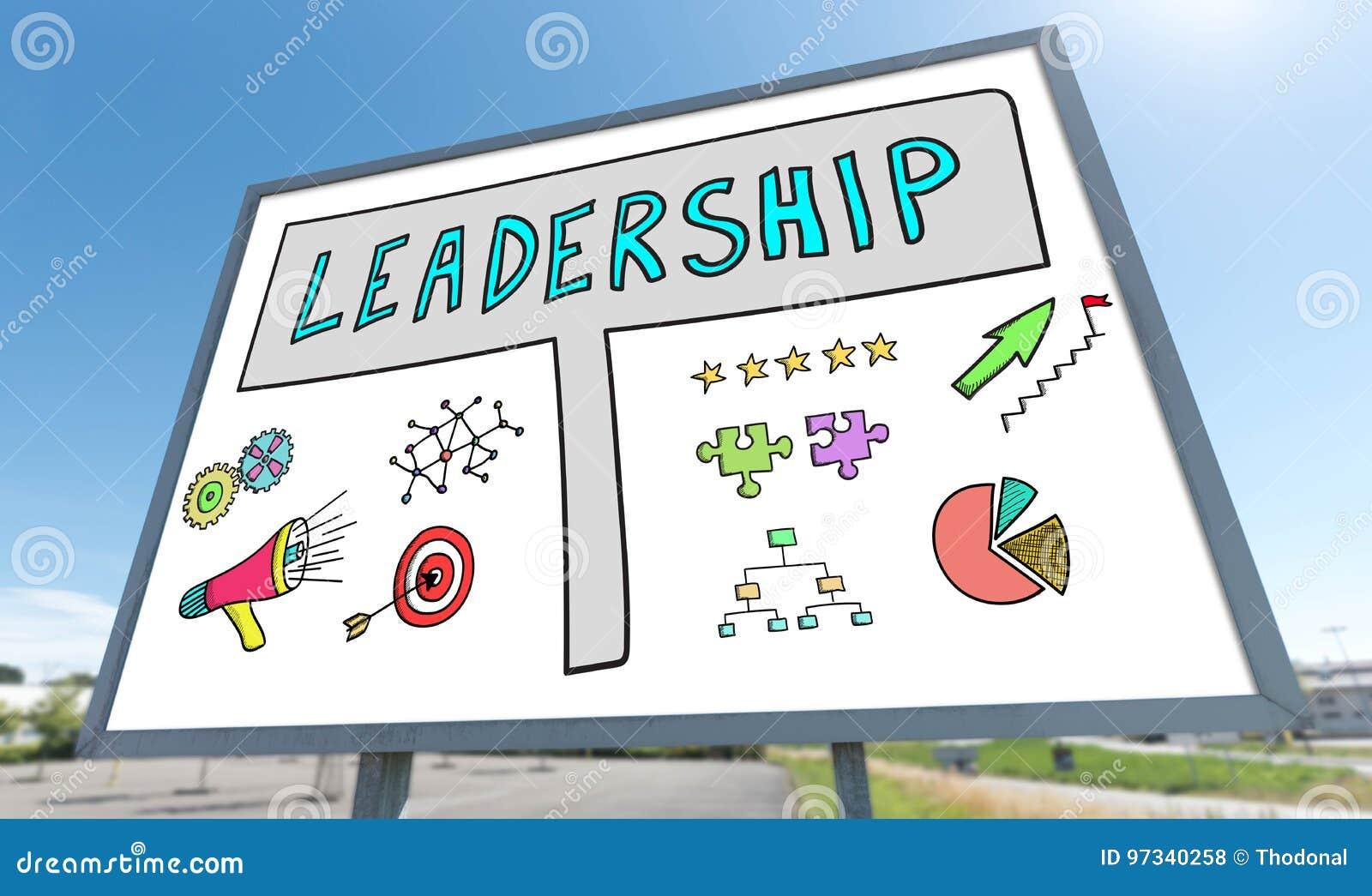 Conceito da liderança em um quadro de avisos