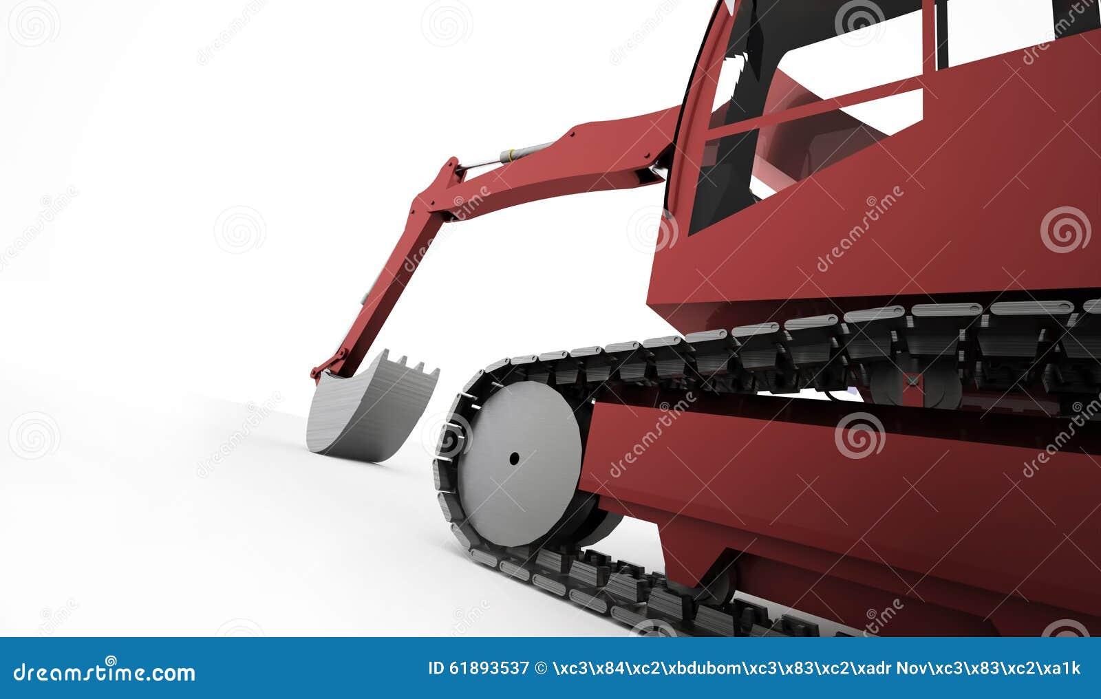 Conceito da máquina escavadora rendido