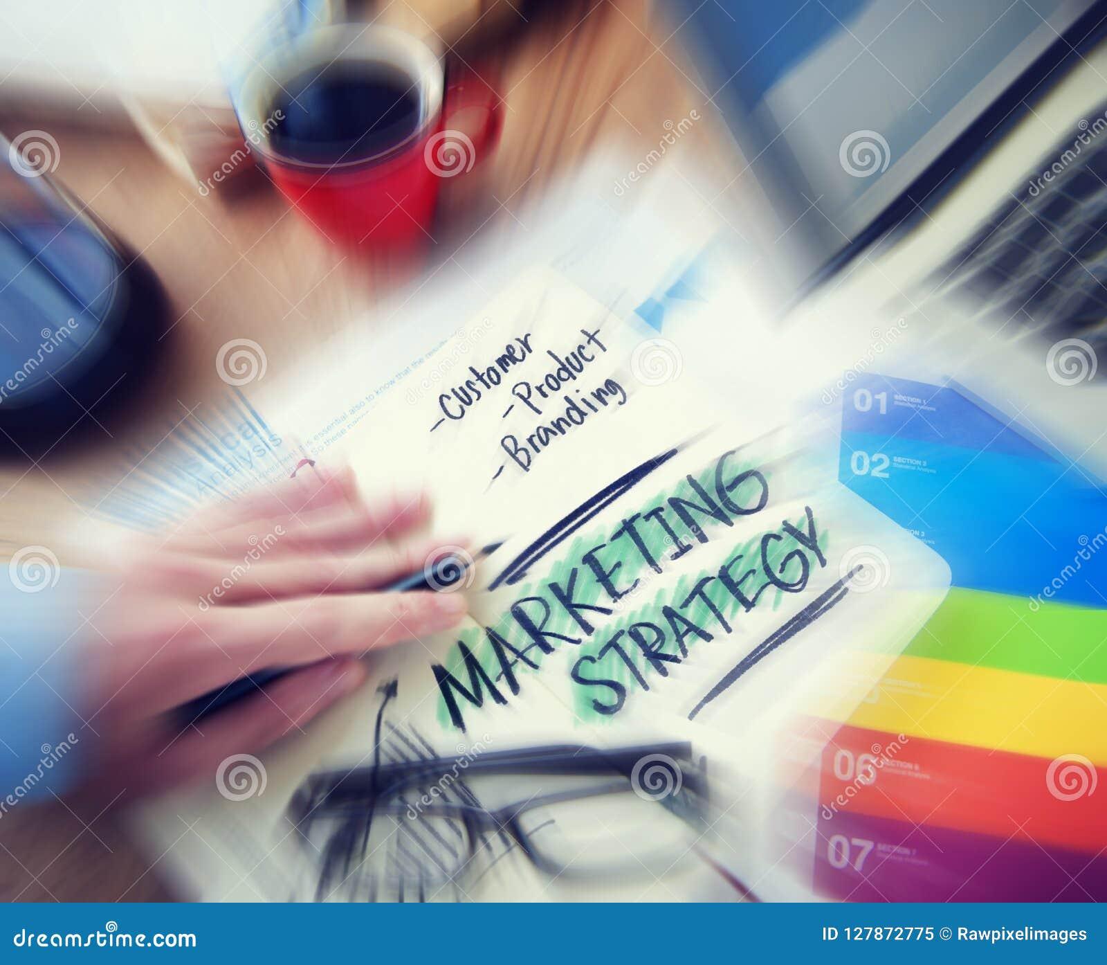 Conceito da marcagem com ferro quente de produto do cliente da estratégia de marketing