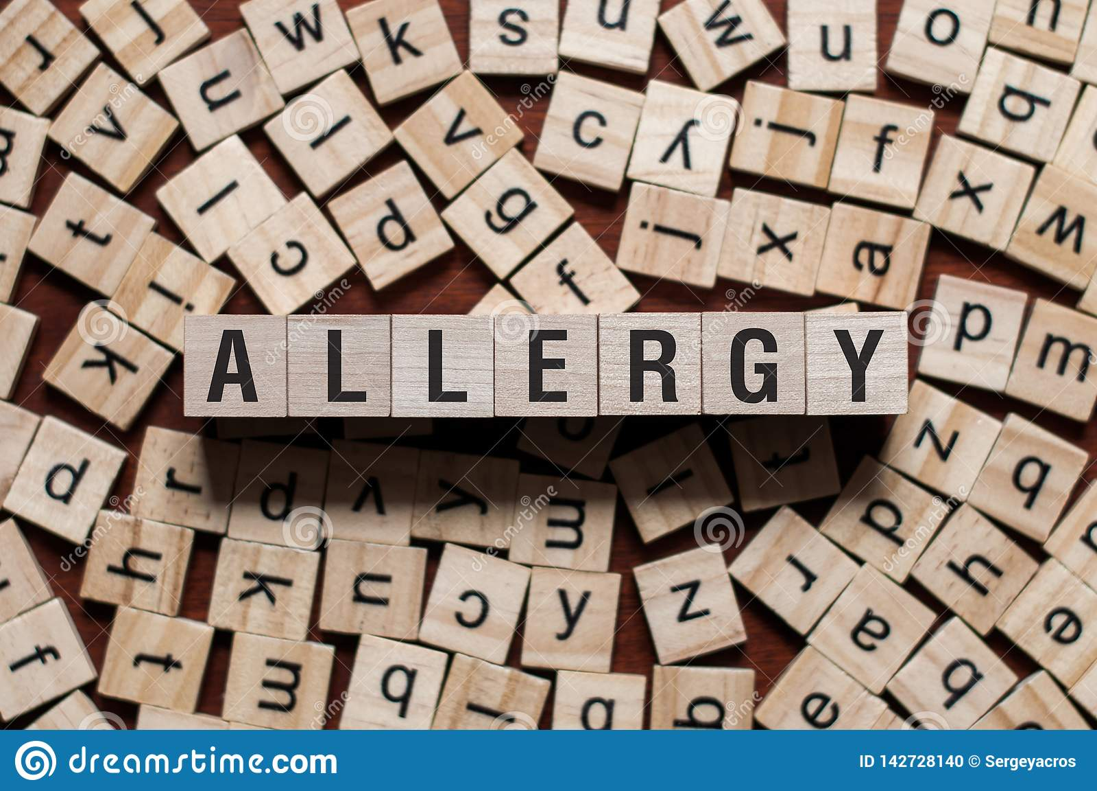 Conceito da palavra da alergia