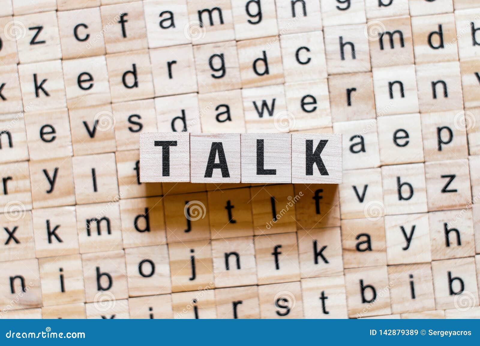 Conceito da palavra da conversa
