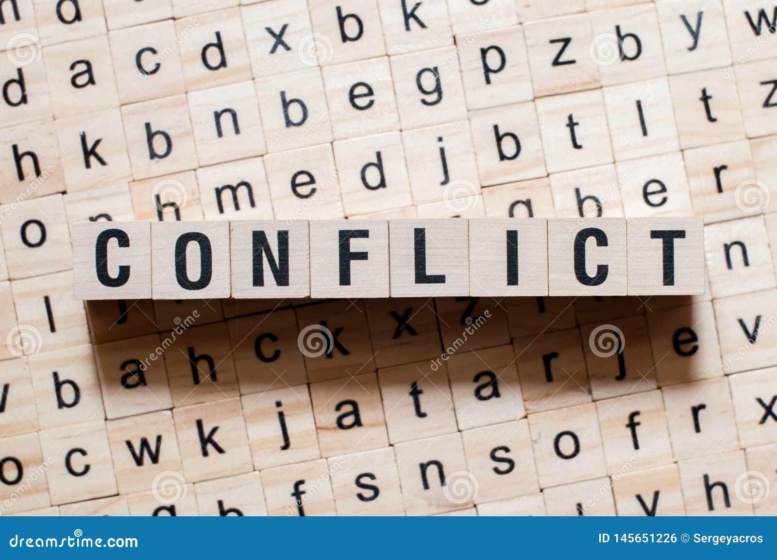 Conceito da palavra do conflito