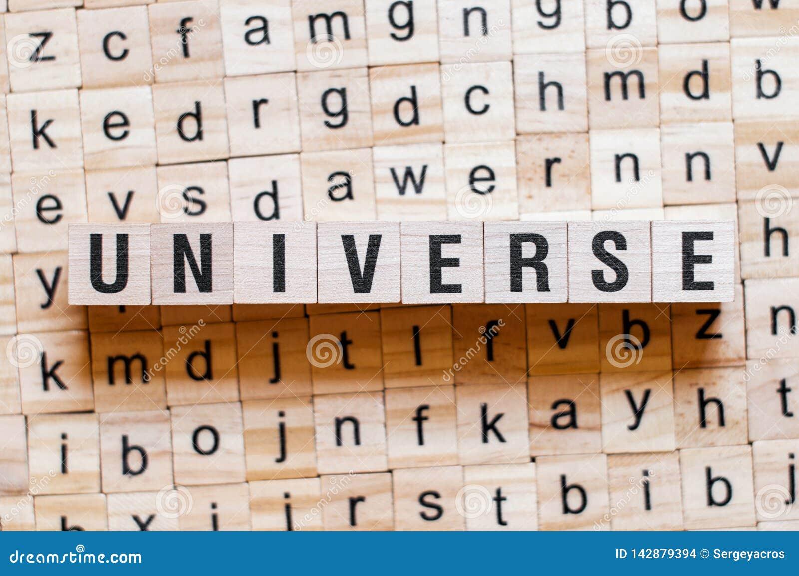 Conceito da palavra do universo