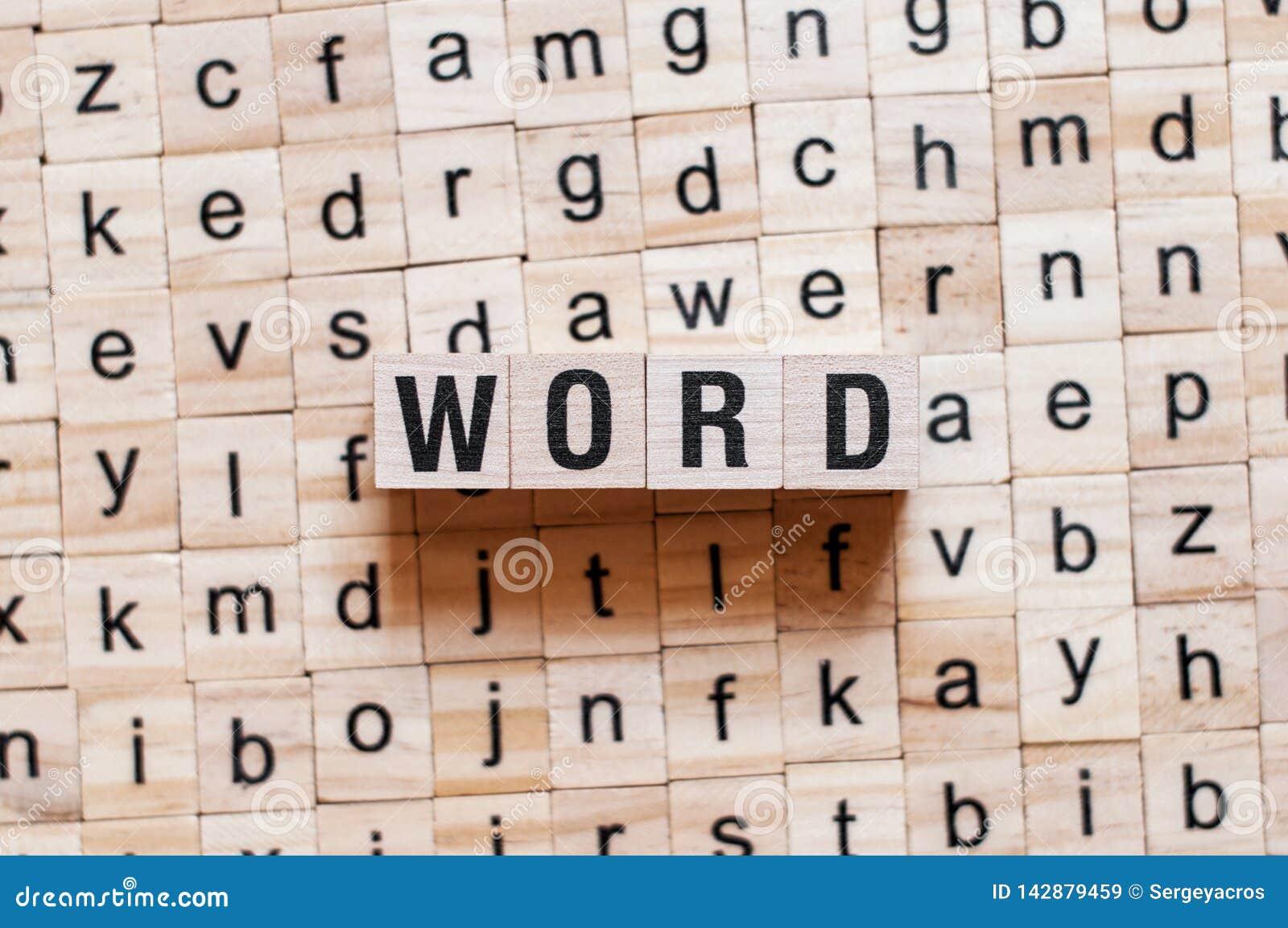 Conceito da palavra da palavra