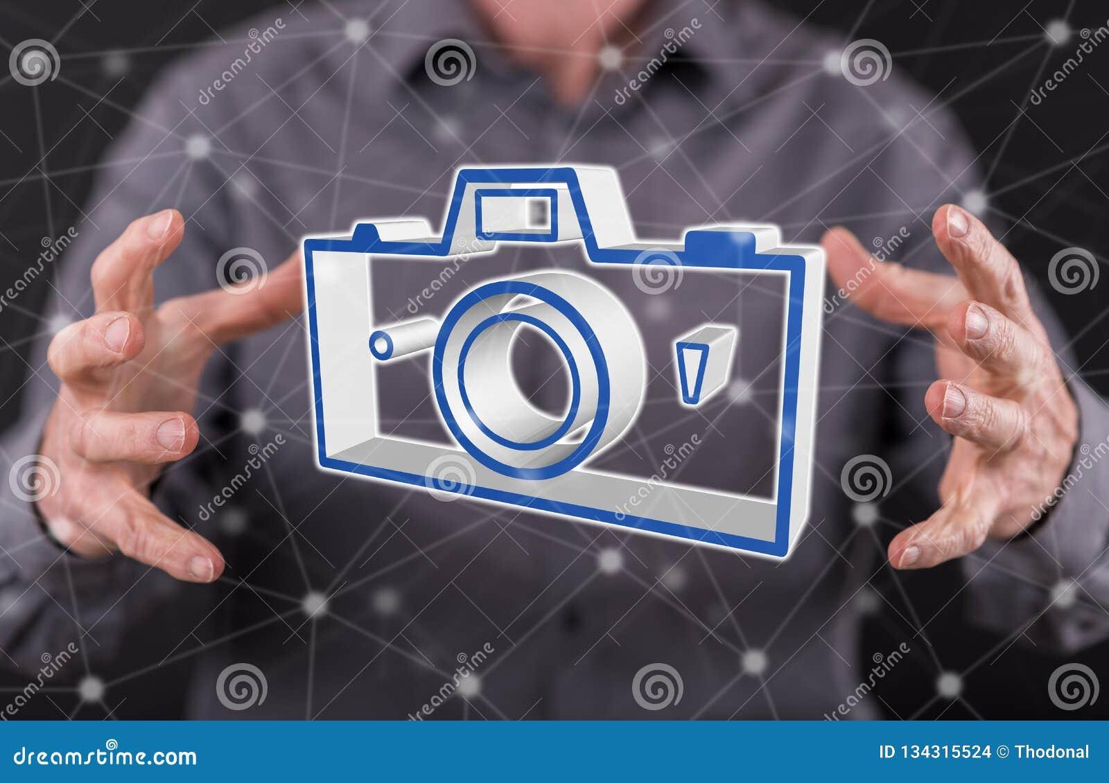 Conceito da partilha das imagens