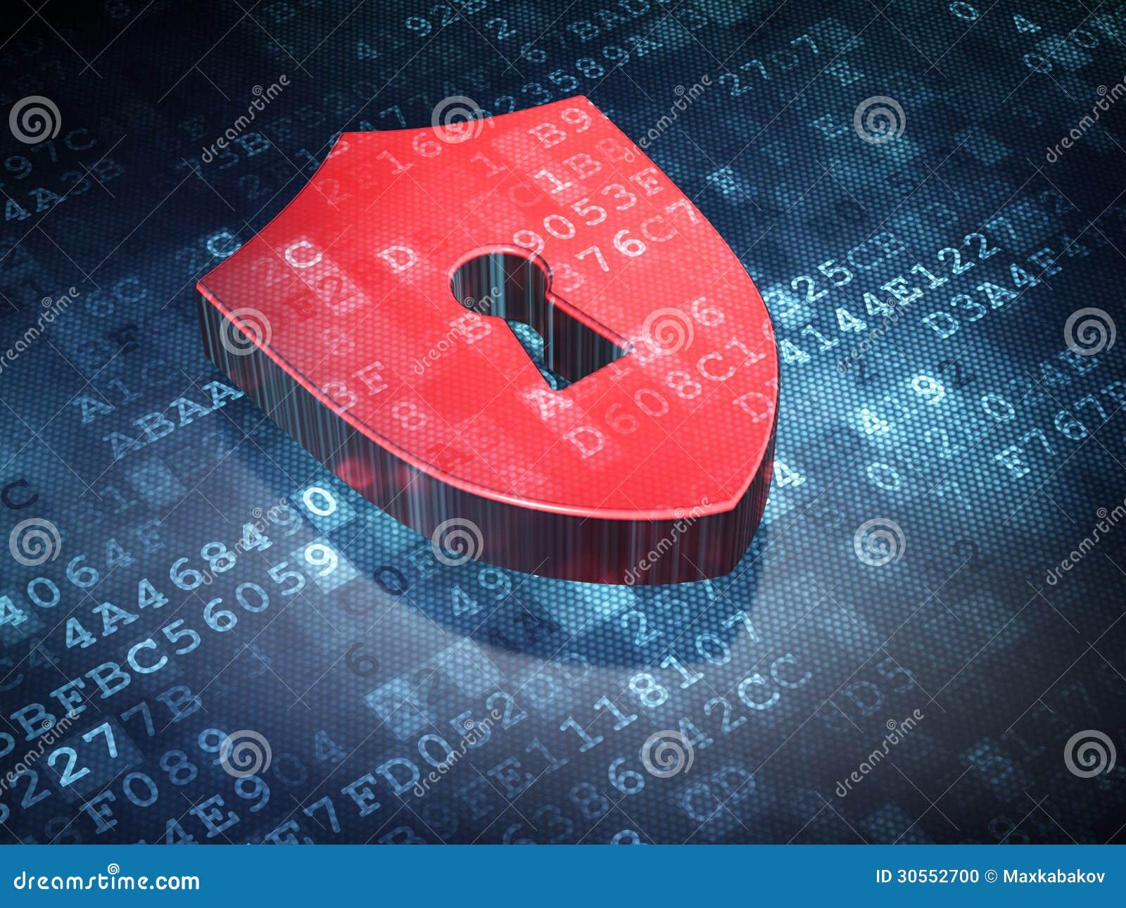 Conceito da privacidade: Protetor no fundo digital