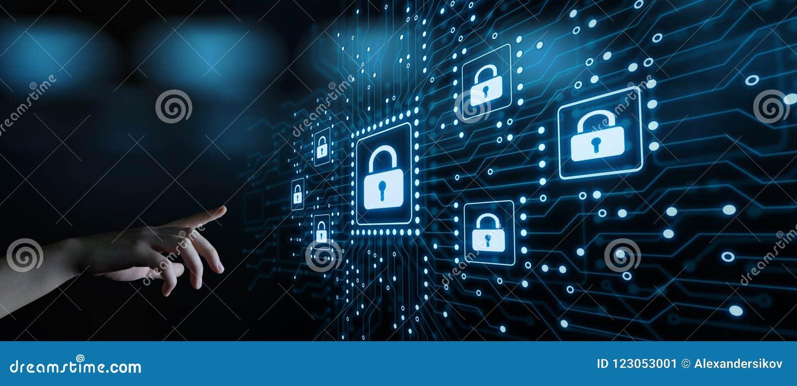 Conceito da privacidade da tecnologia do negócio da proteção de dados da segurança do Cyber