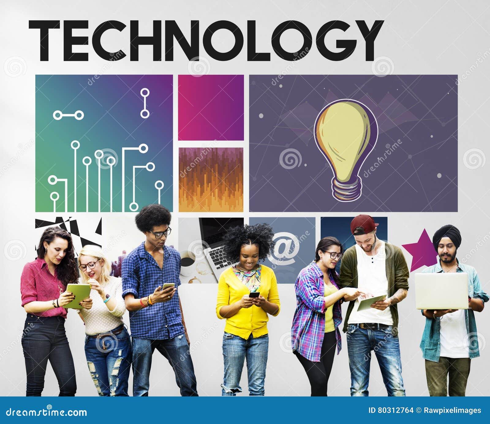Conceito da rede do Cyberspace da tecnologia