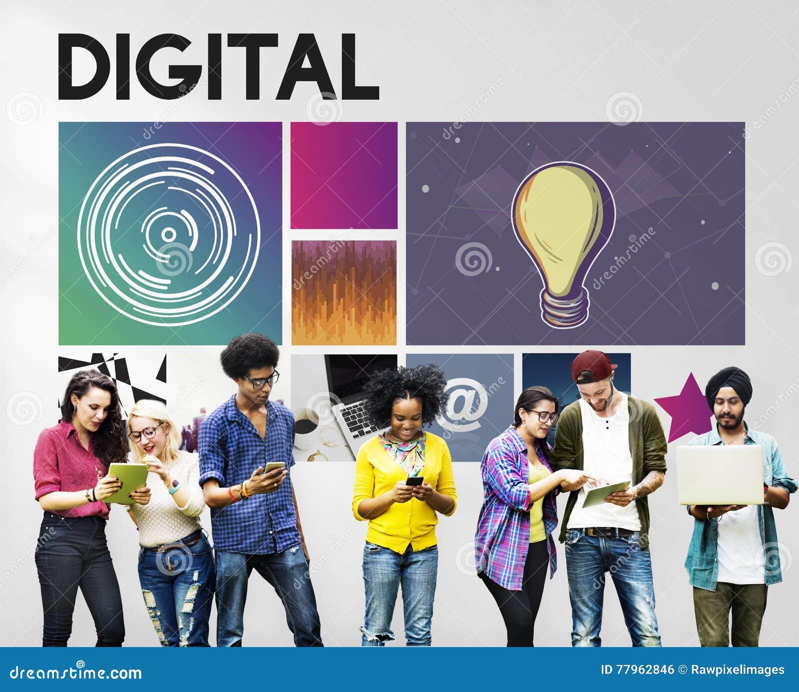 Conceito da rede do Cyberspace da tecnologia dos meios de Digitas