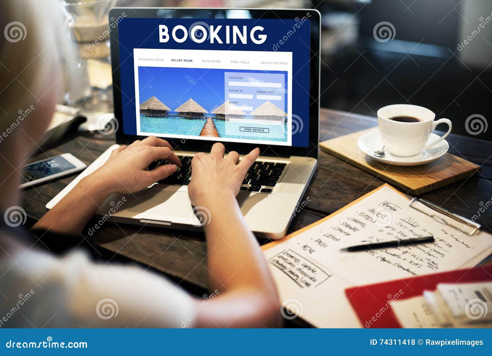 Conceito da relação do Web site da reserva do feriado