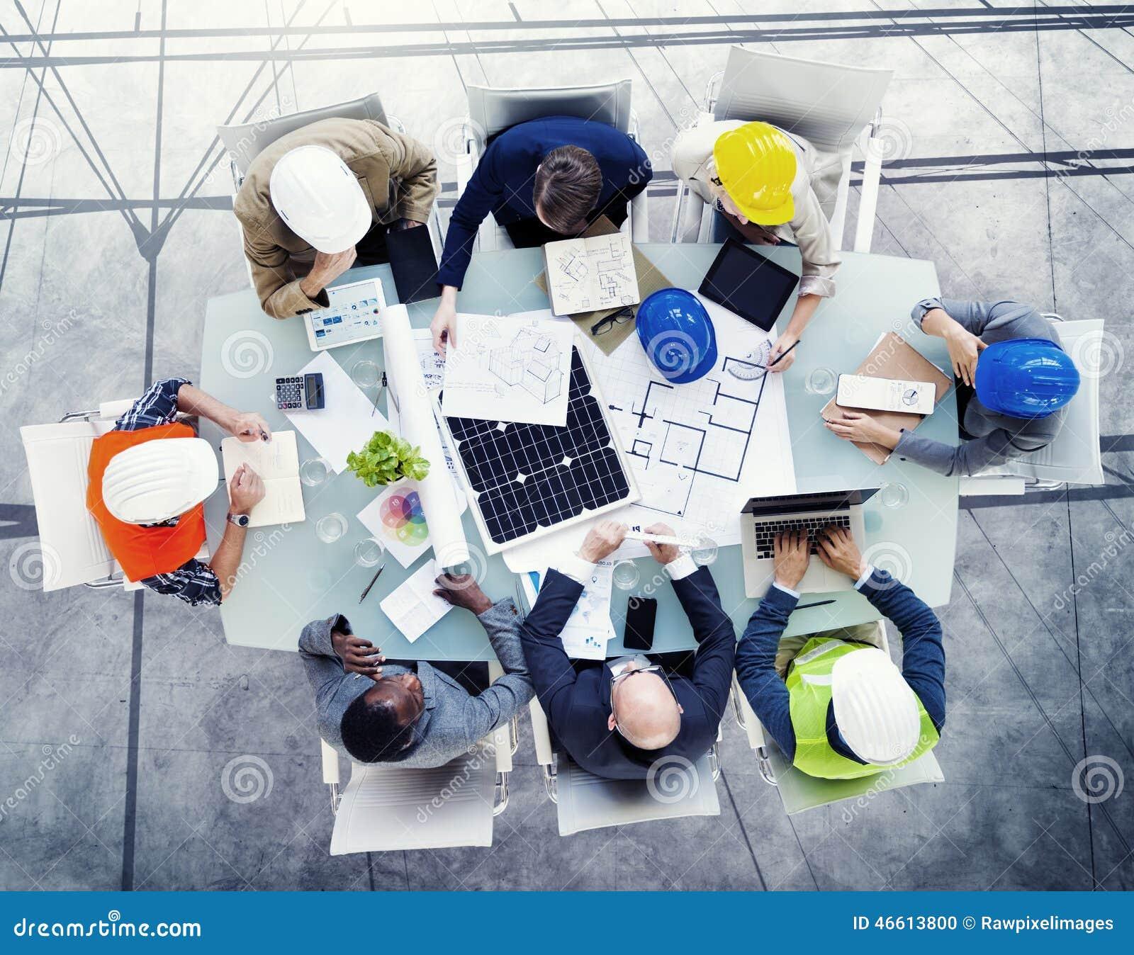 Conceito da reunião do projeto dos arquitetos da segurança