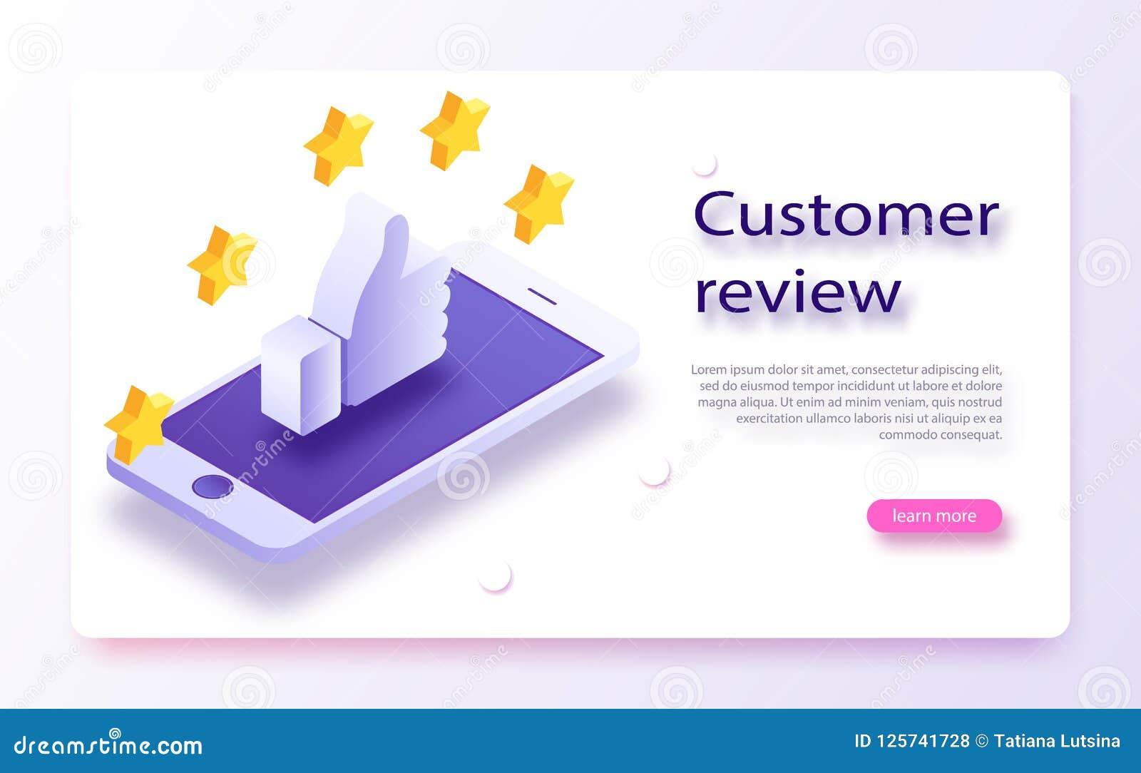 Conceito da revisão do cliente Feedback, reputação e conceito da qualidade Entregue apontar, dedo que aponta a uma avaliação de c