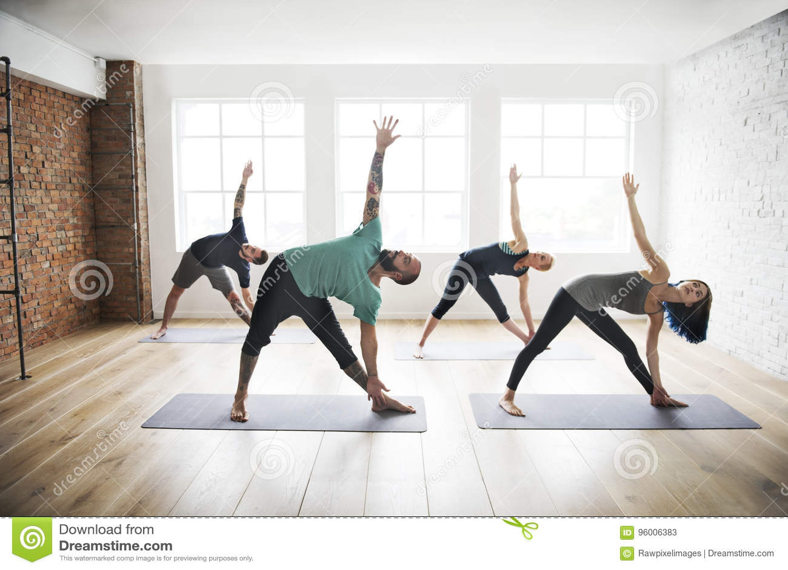 Conceito da saúde da classe do exercício de prática da ioga