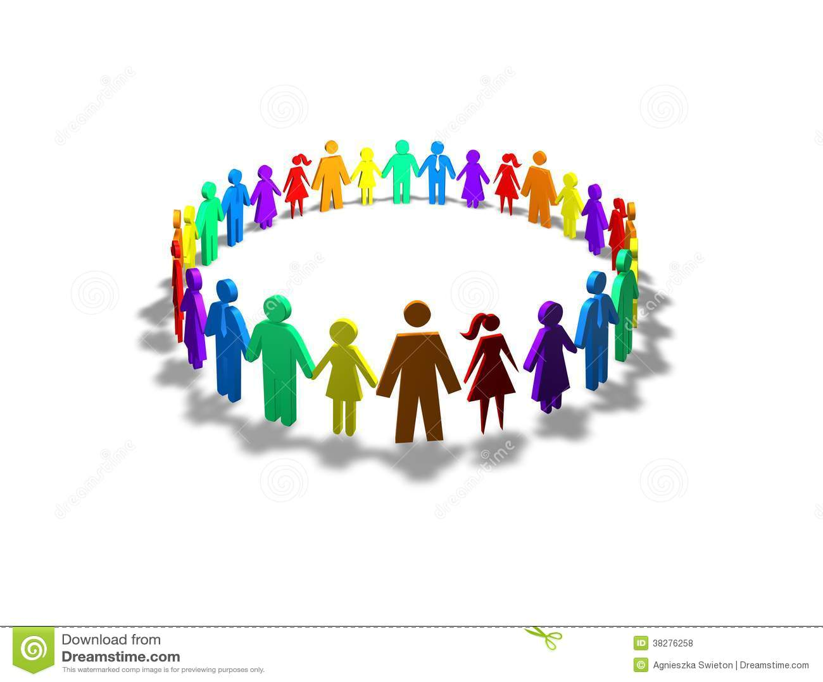 Conceito Da Sociedade Da Unidade E Da Diversidade Fotos
