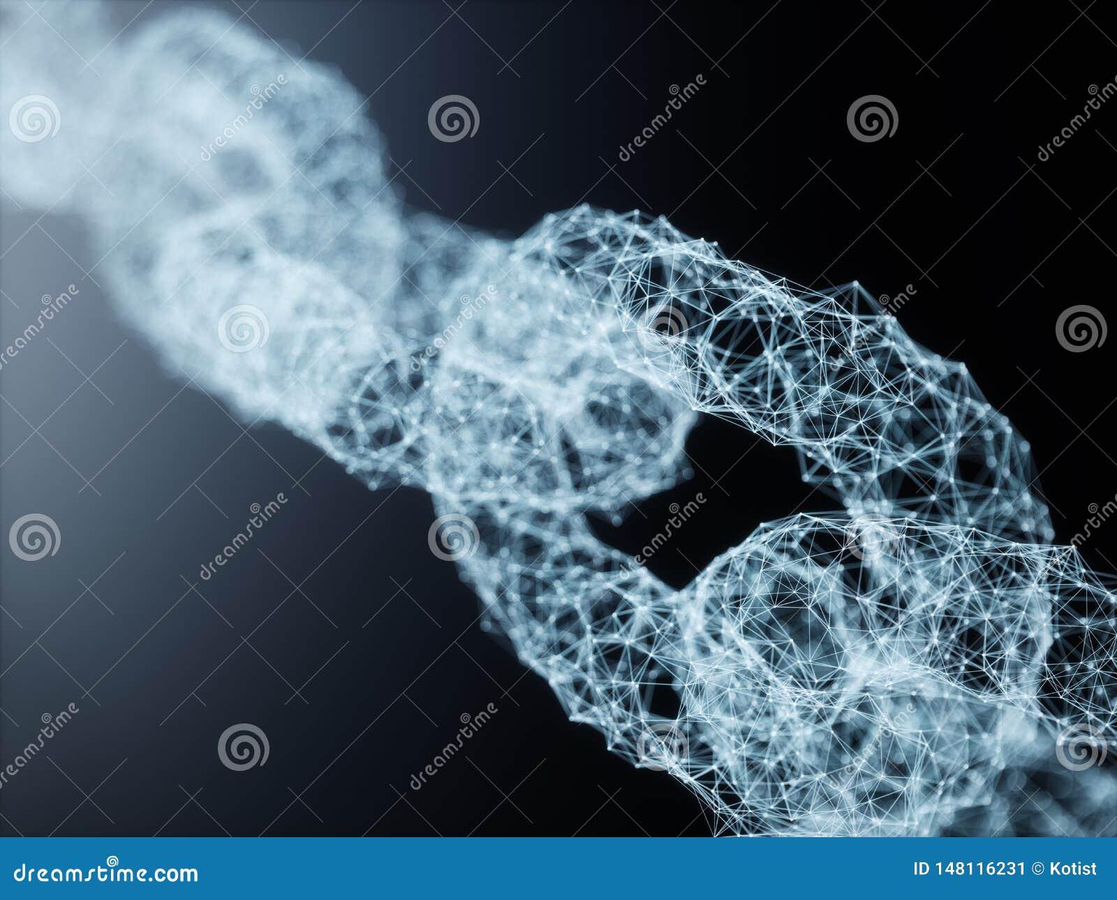 Conceito da tecnologia de rede da relação de Blockchain